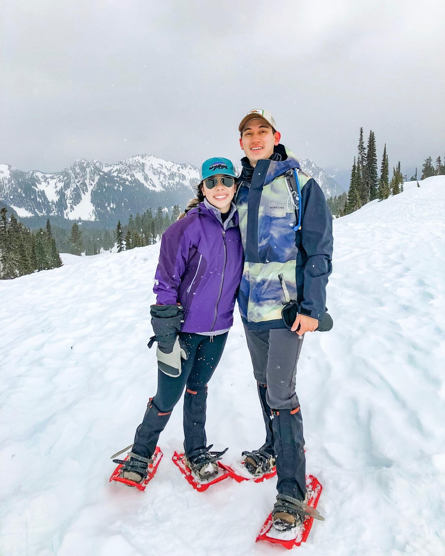 Snowshoe to Panorama Point, Mount Rainier National Park, Washington