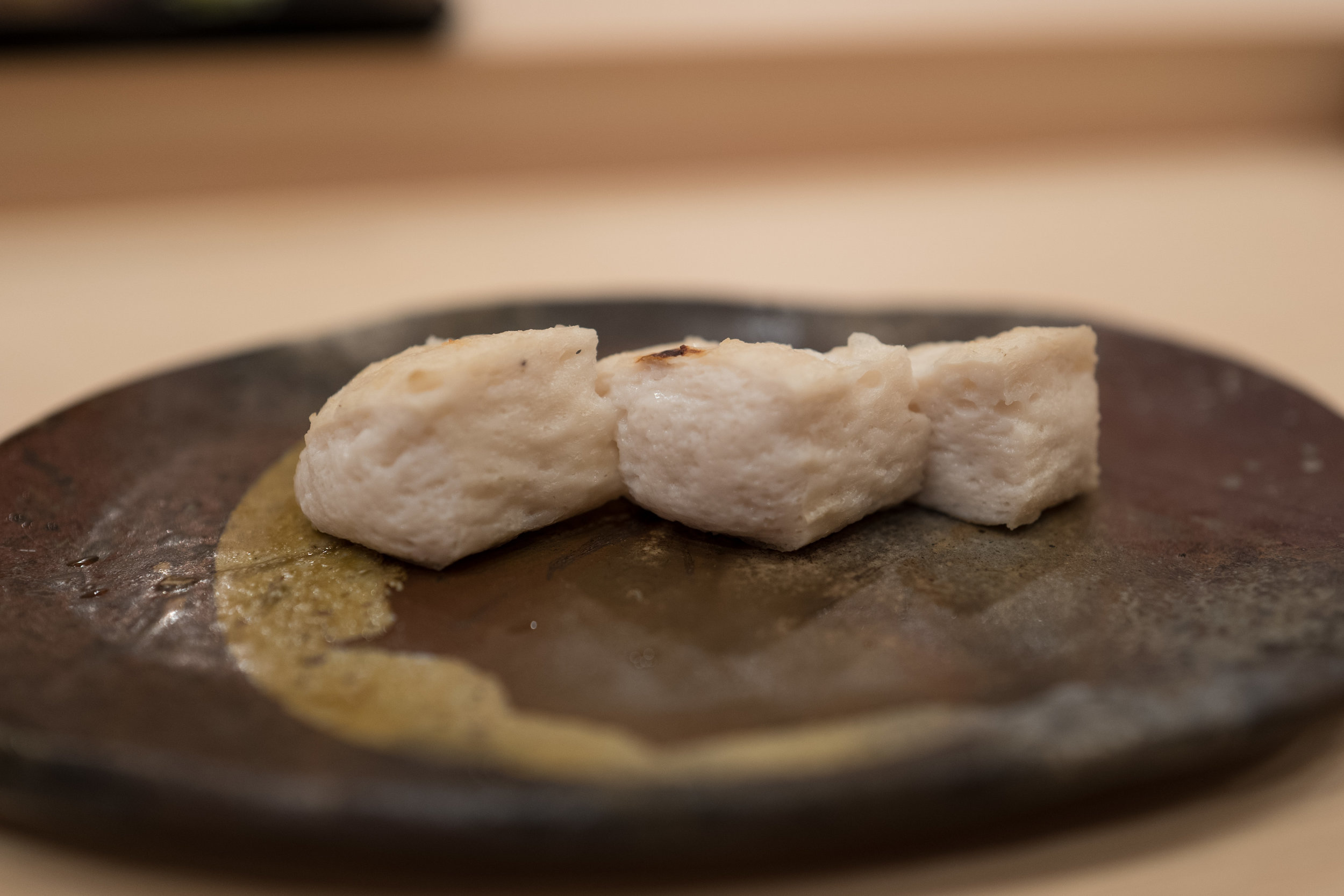 The soufflé-like shirako preparation was one of my favorite otsumami served.