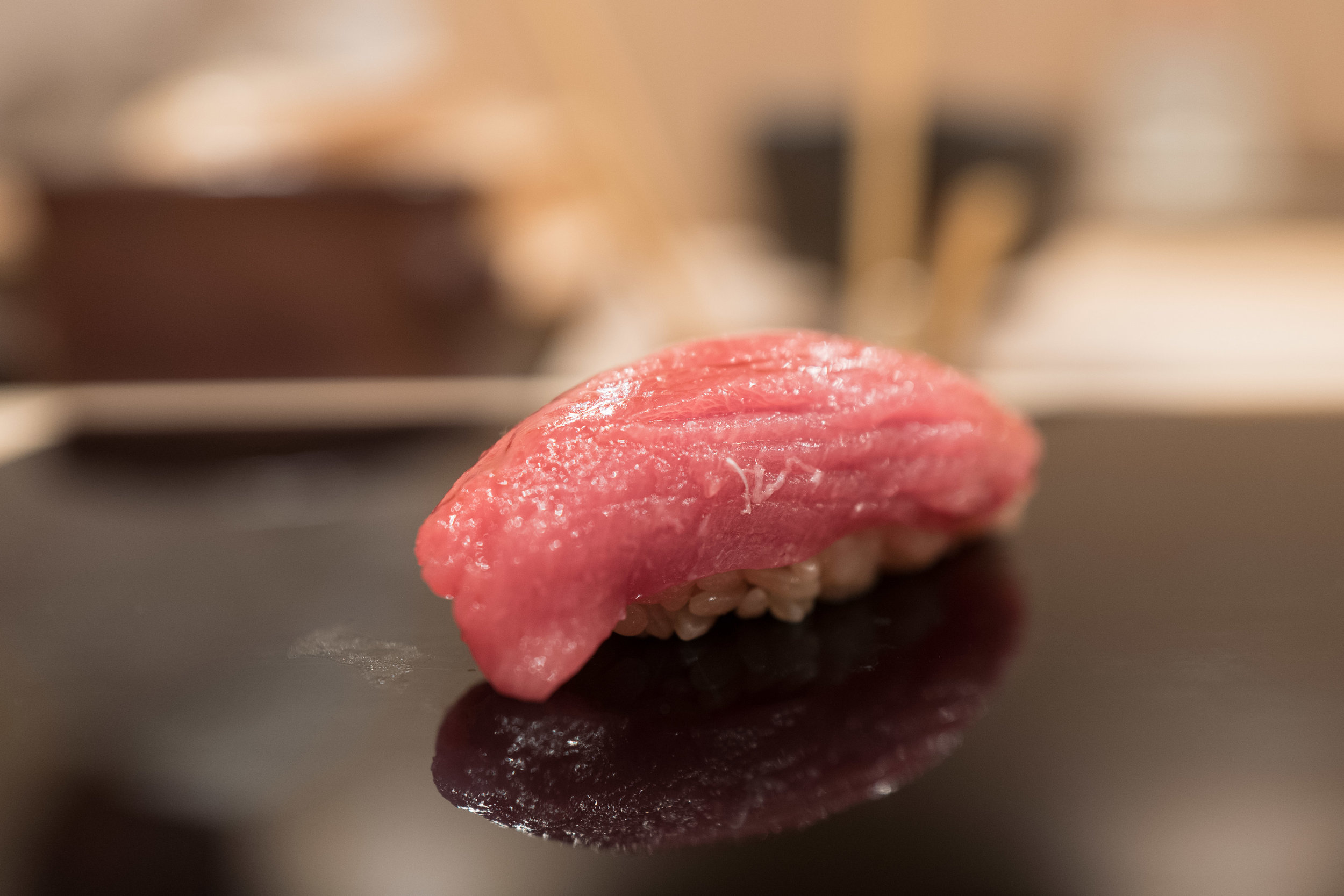 Really great chu-toro - also a perfect combination with the shari