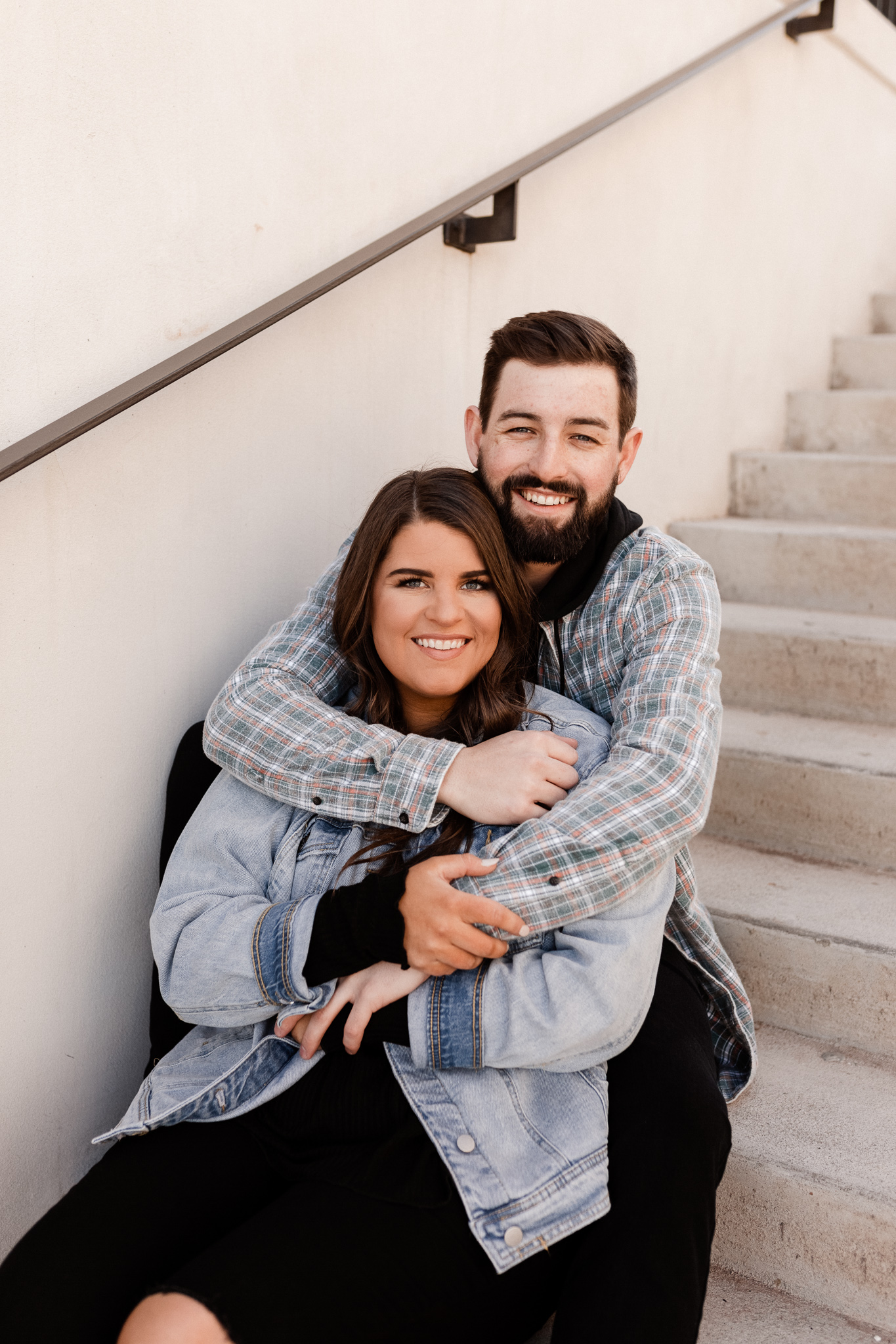 John + Anna | Modern Minimal Engagement Photos | Oklahoma Wedding Photographer-24.jpg