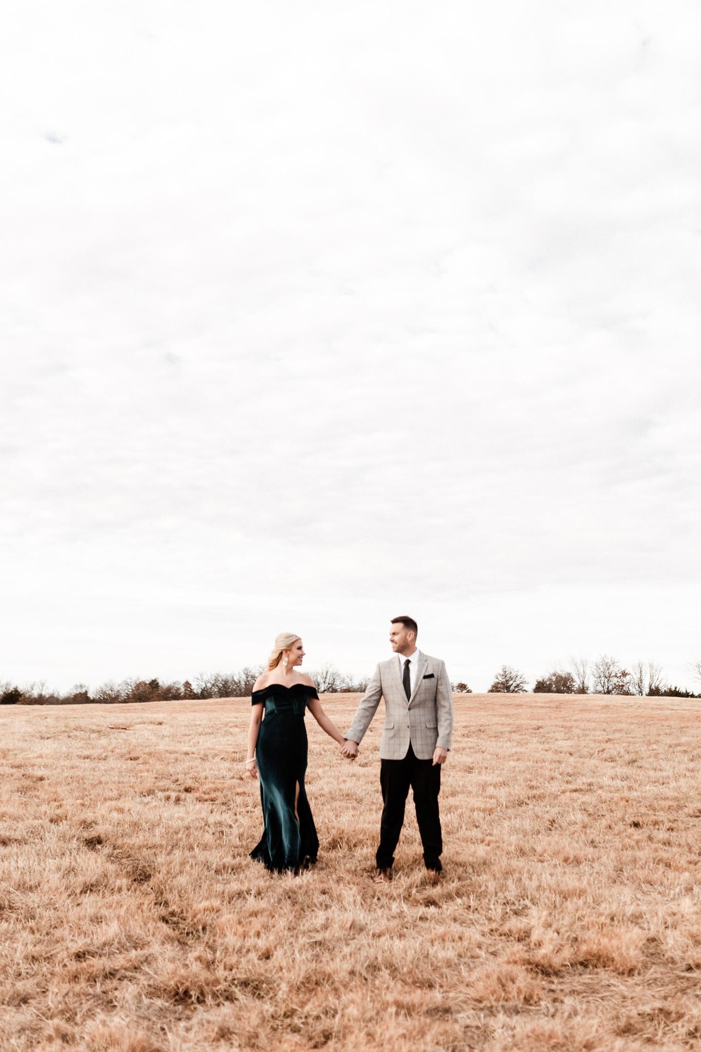 Wade + Stephanie | Warm Open Field Engagements | Oklahoma Wedding Photographer-1.jpg