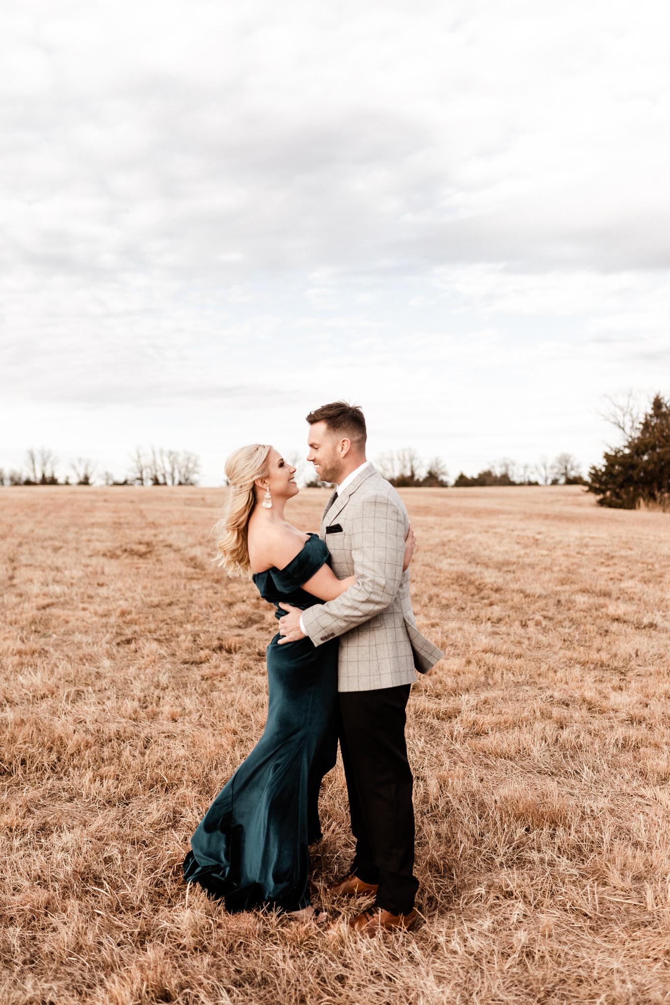 Wade + Stephanie | Warm Open Field Engagements | Oklahoma Wedding Photographer-4.jpg