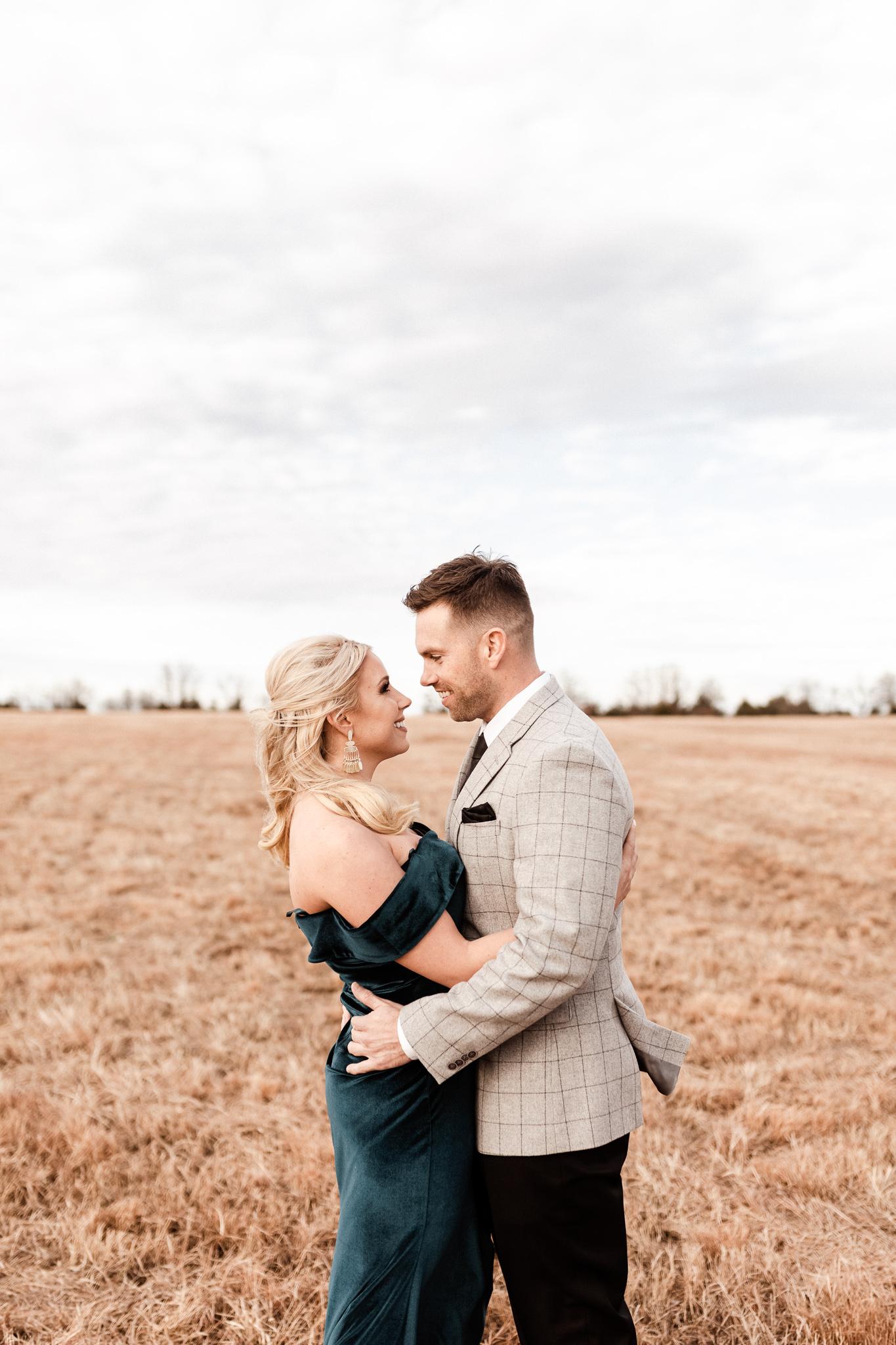 Wade + Stephanie | Warm Open Field Engagements | Oklahoma Wedding Photographer-5.jpg