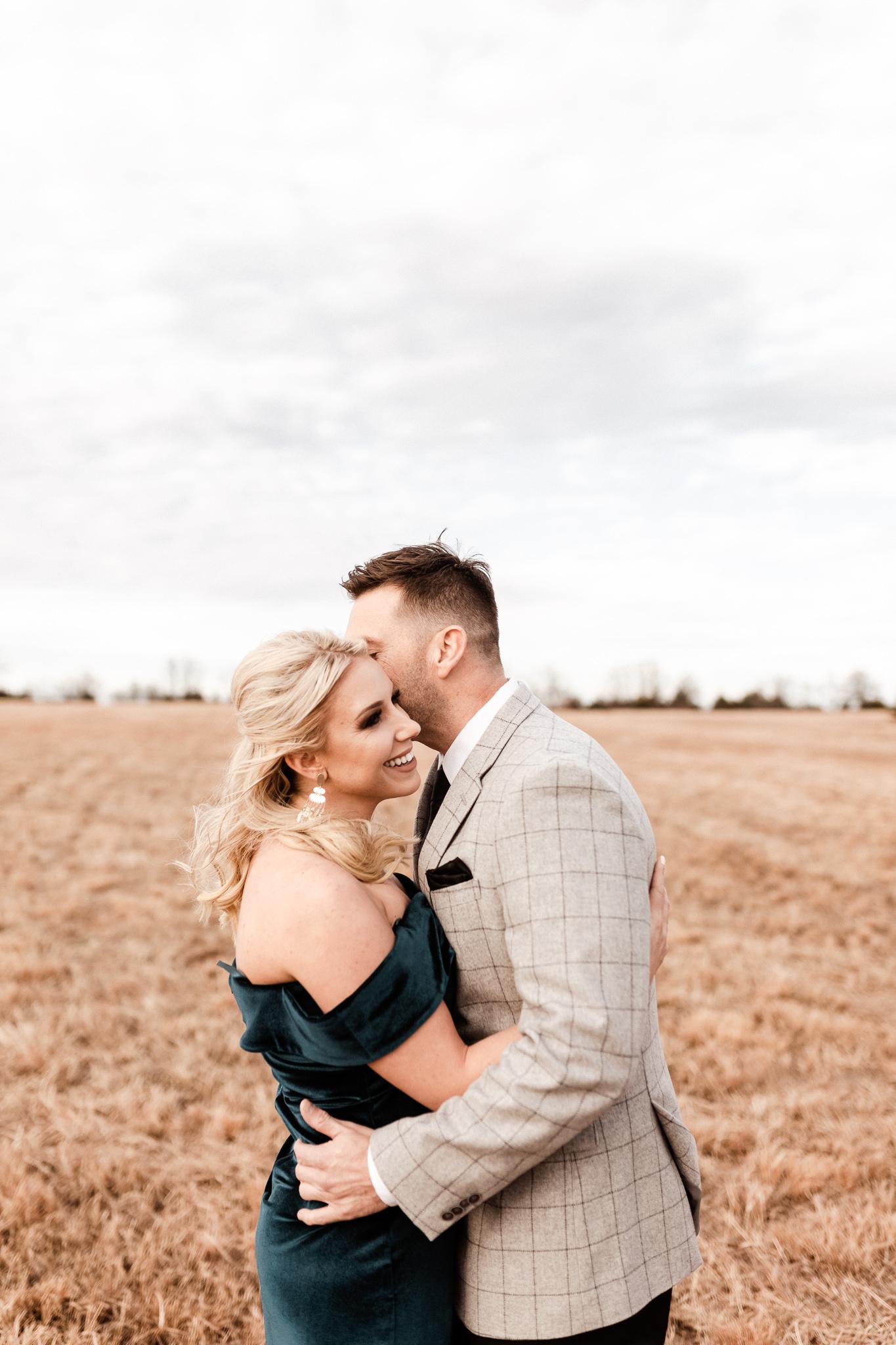 Wade + Stephanie | Warm Open Field Engagements | Oklahoma Wedding Photographer-6.jpg