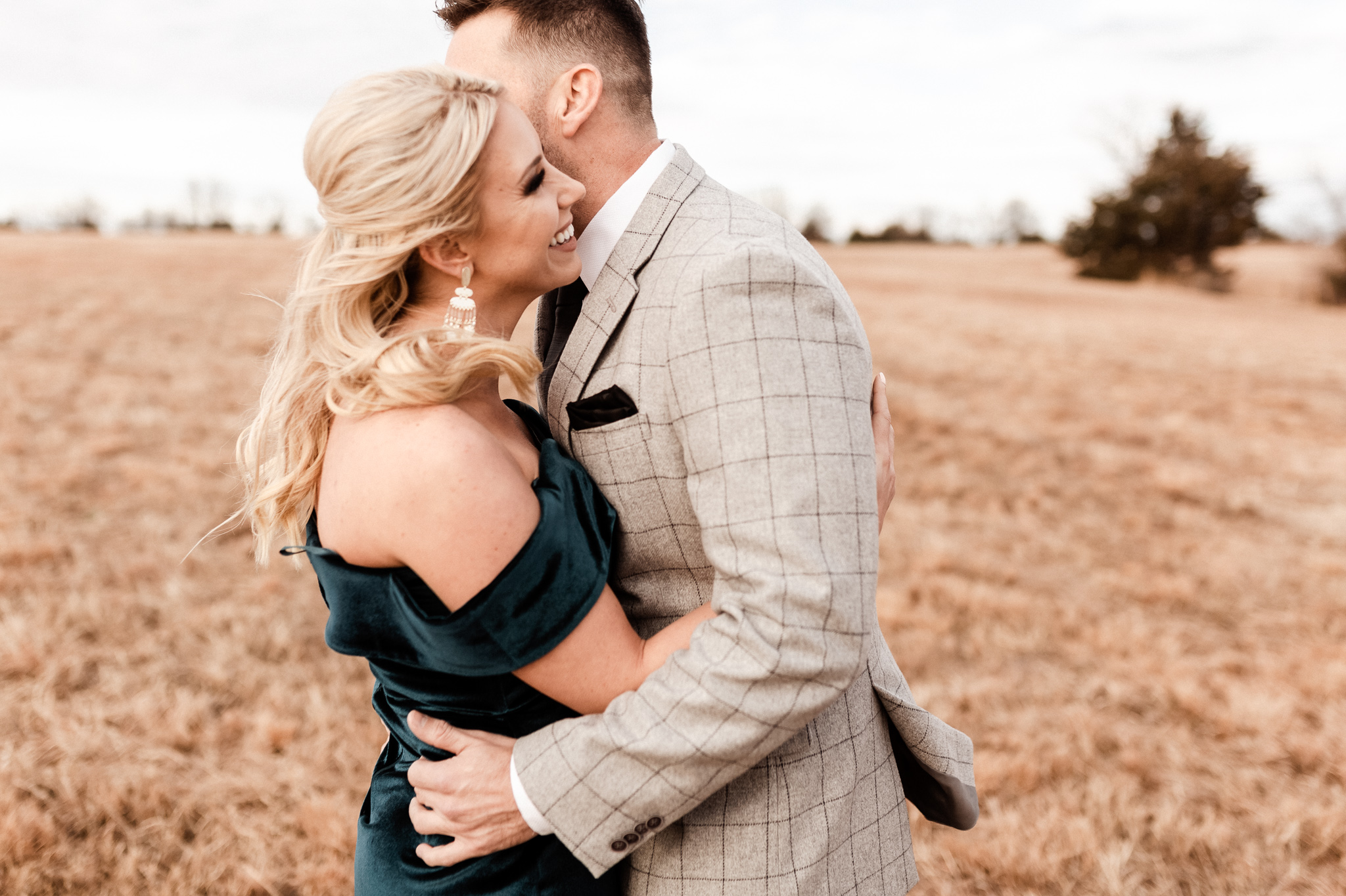 Wade + Stephanie | Warm Open Field Engagements | Oklahoma Wedding Photographer-7.jpg