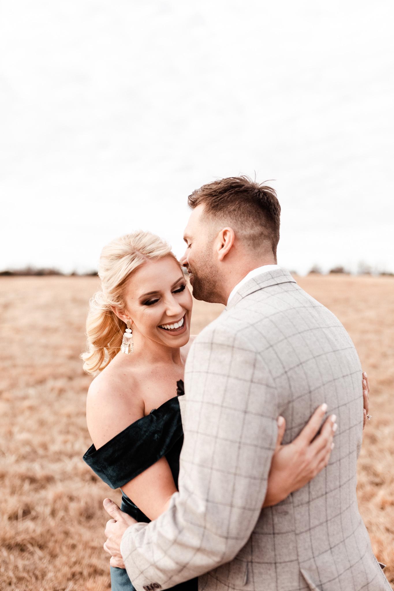 Wade + Stephanie | Warm Open Field Engagements | Oklahoma Wedding Photographer-9.jpg