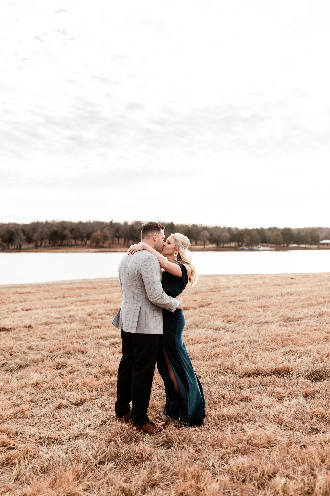 Wade + Stephanie | Warm Open Field Engagements | Oklahoma Wedding Photographer-13.jpg