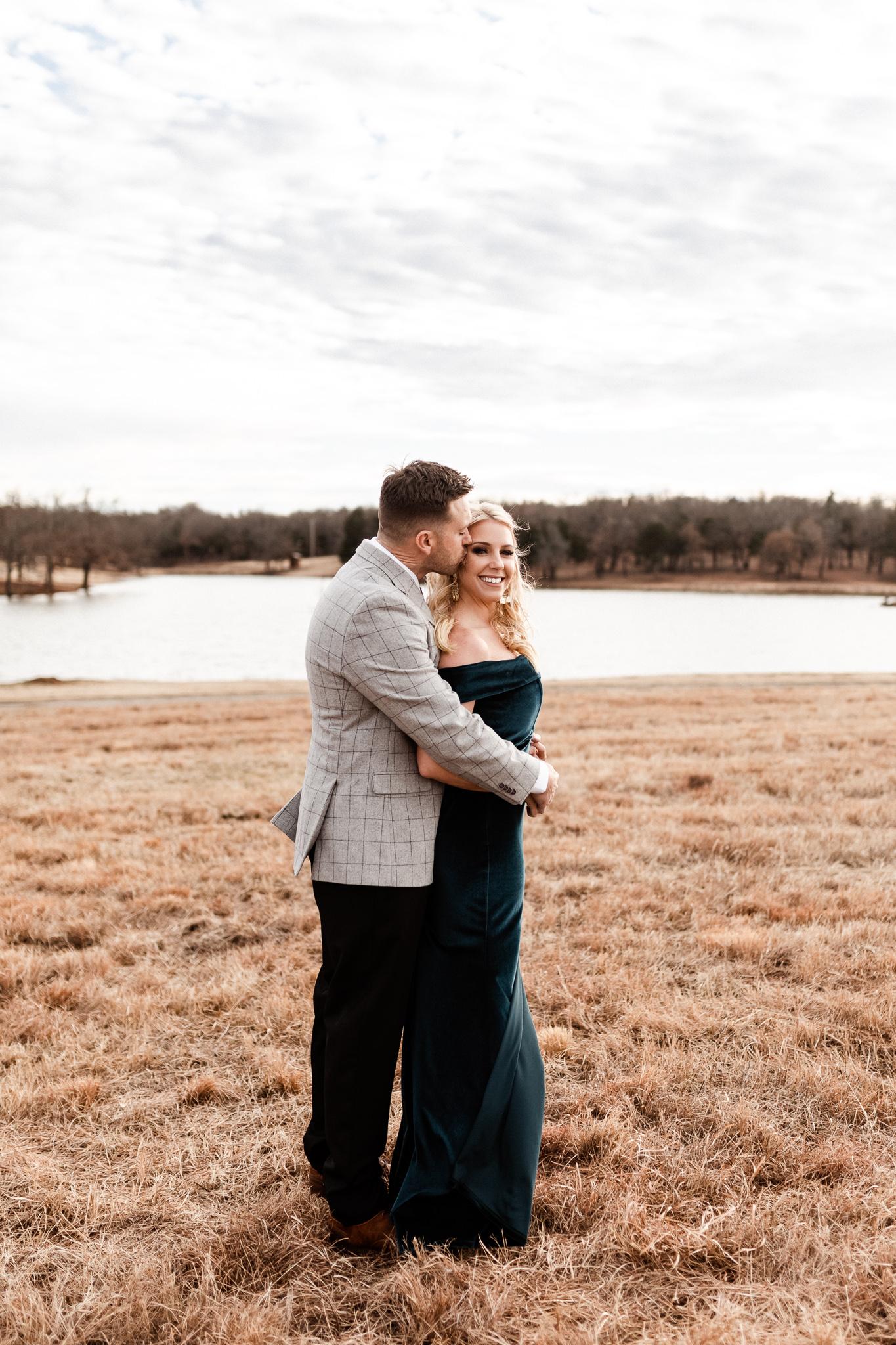 Wade + Stephanie | Warm Open Field Engagements | Oklahoma Wedding Photographer-14.jpg