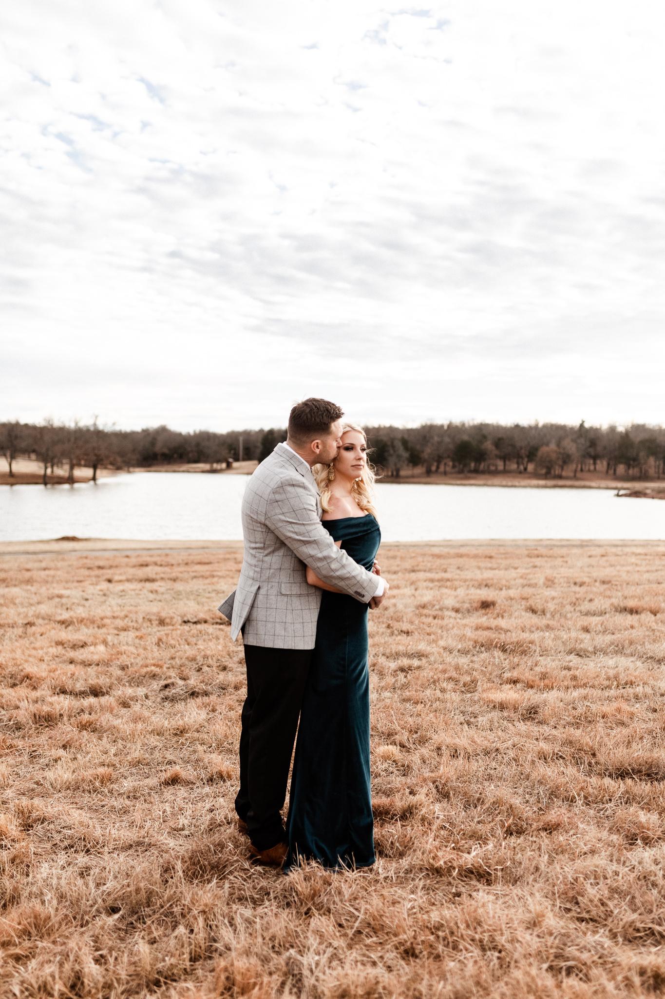 Wade + Stephanie | Warm Open Field Engagements | Oklahoma Wedding Photographer-15.jpg