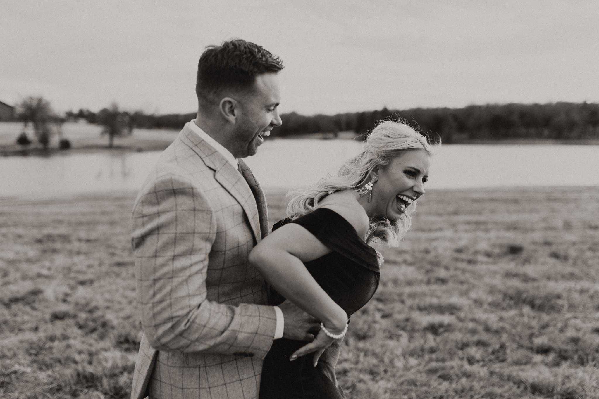 Wade + Stephanie | Warm Open Field Engagements | Oklahoma Wedding Photographer-16.jpg