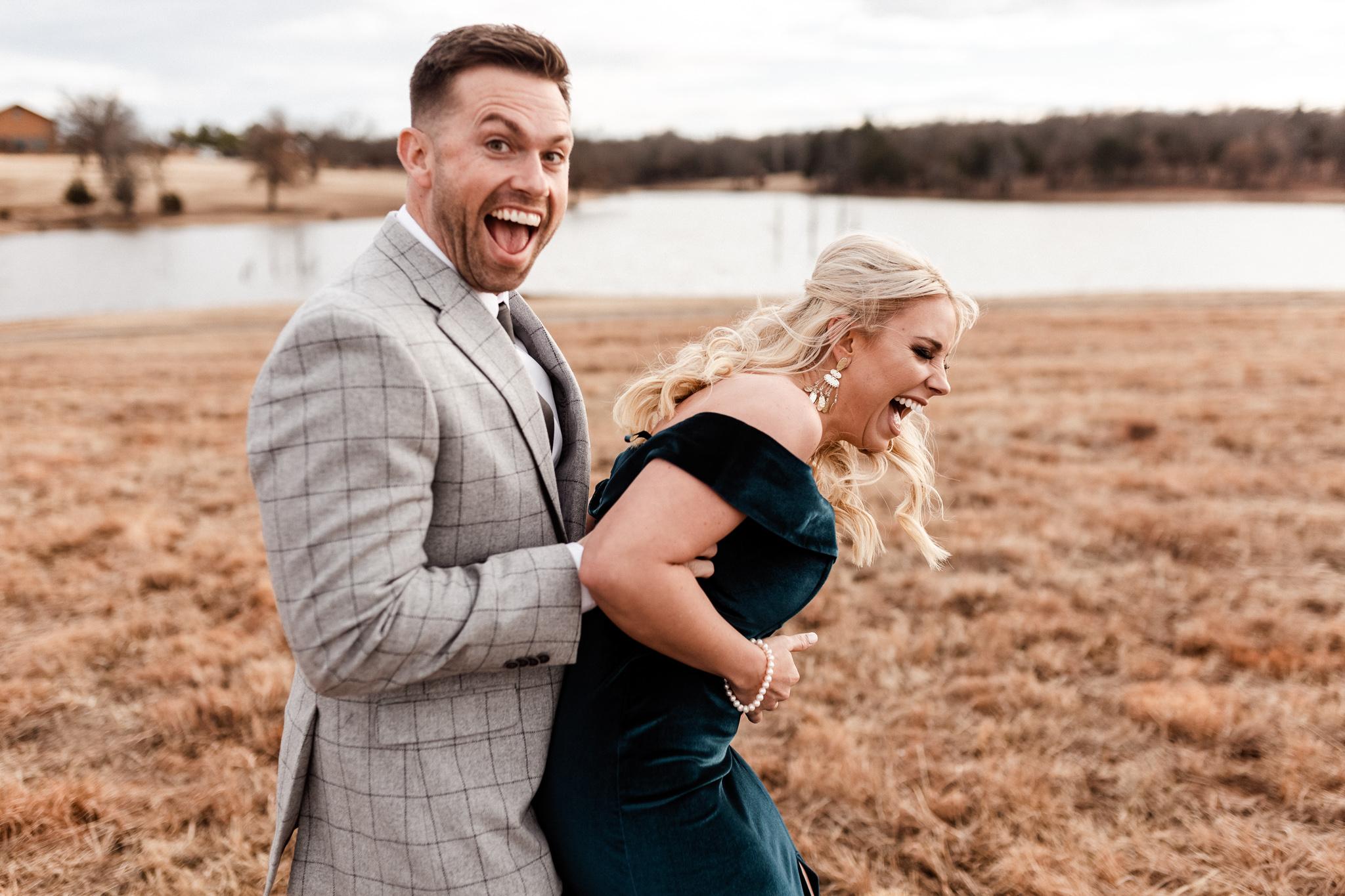 Wade + Stephanie | Warm Open Field Engagements | Oklahoma Wedding Photographer-17.jpg