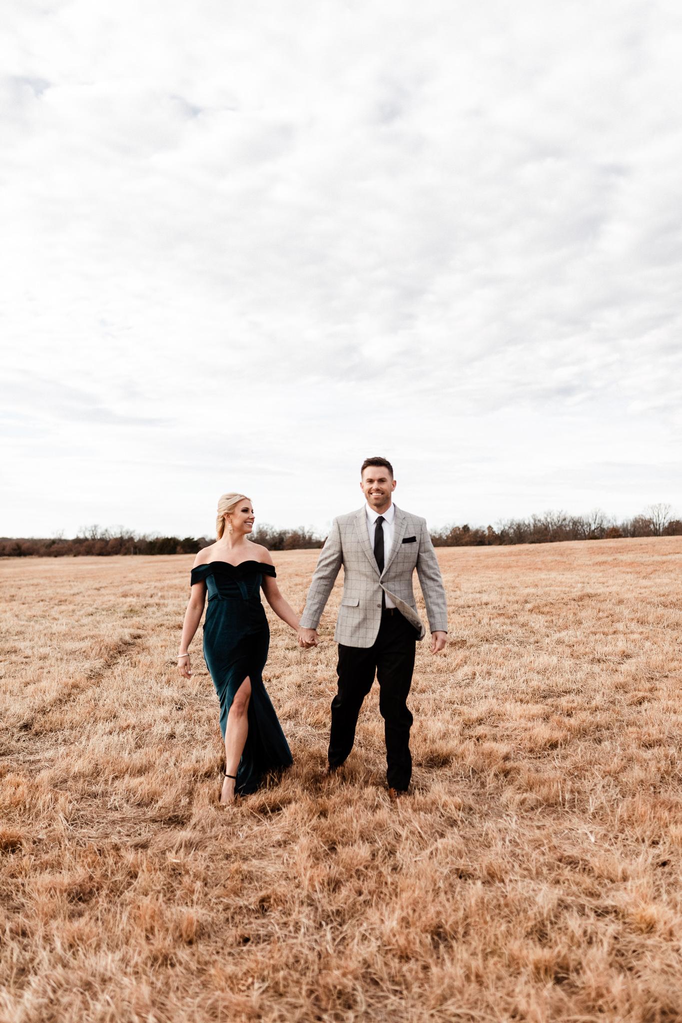 Wade + Stephanie | Warm Open Field Engagements | Oklahoma Wedding Photographer-19.jpg