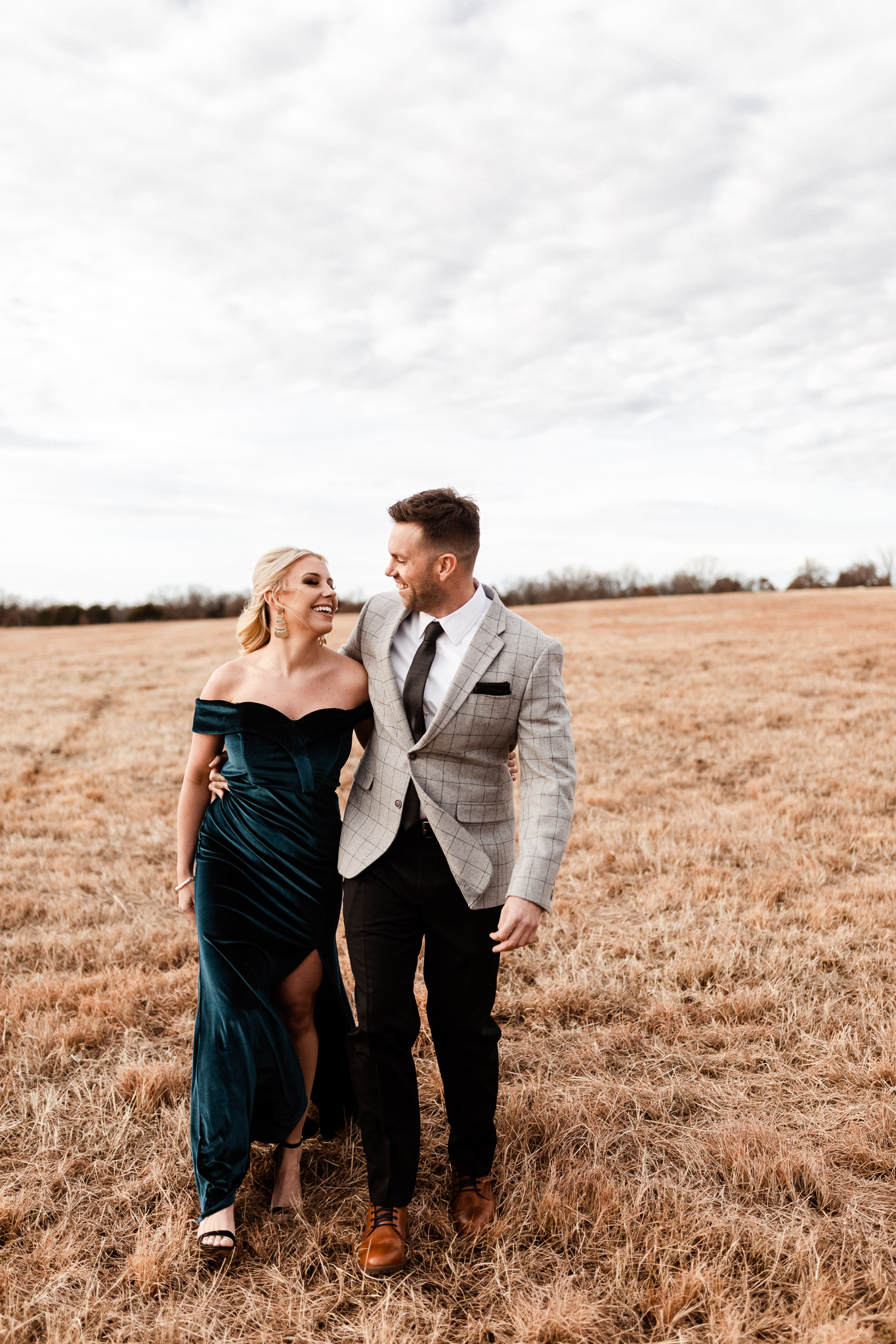 Wade + Stephanie | Warm Open Field Engagements | Oklahoma Wedding Photographer-20.jpg