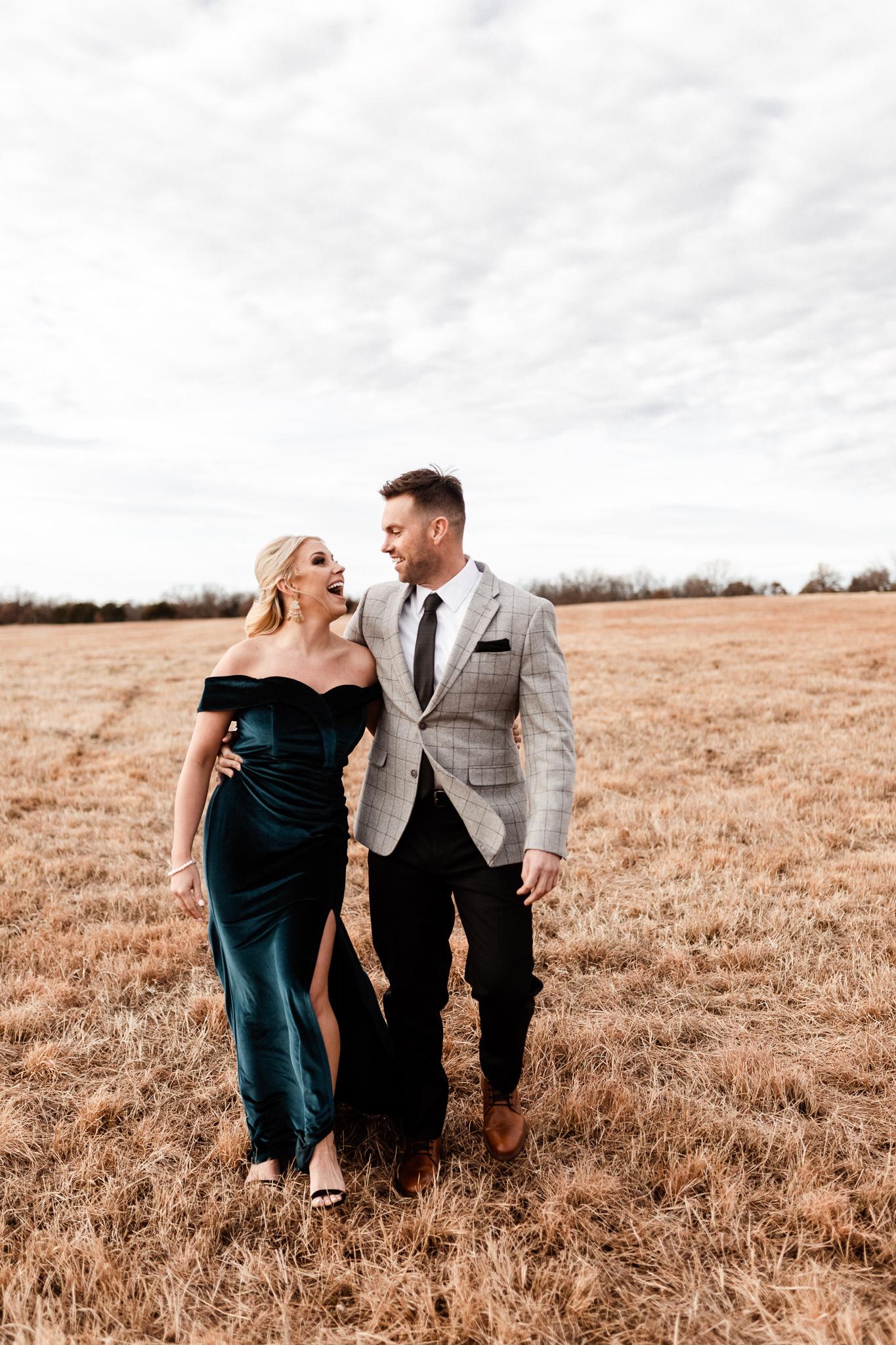 Wade + Stephanie | Warm Open Field Engagements | Oklahoma Wedding Photographer-21.jpg