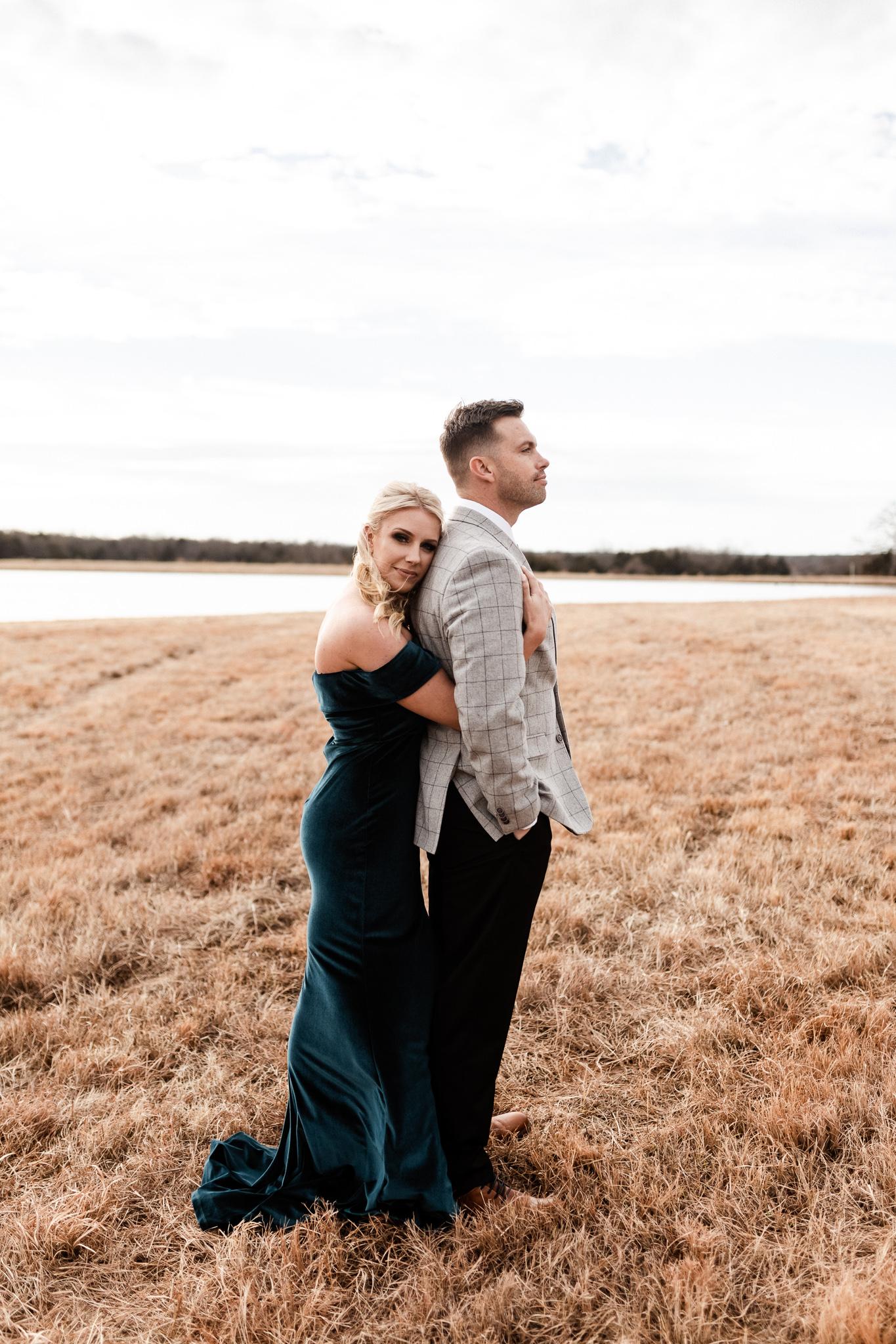 Wade + Stephanie | Warm Open Field Engagements | Oklahoma Wedding Photographer-22.jpg