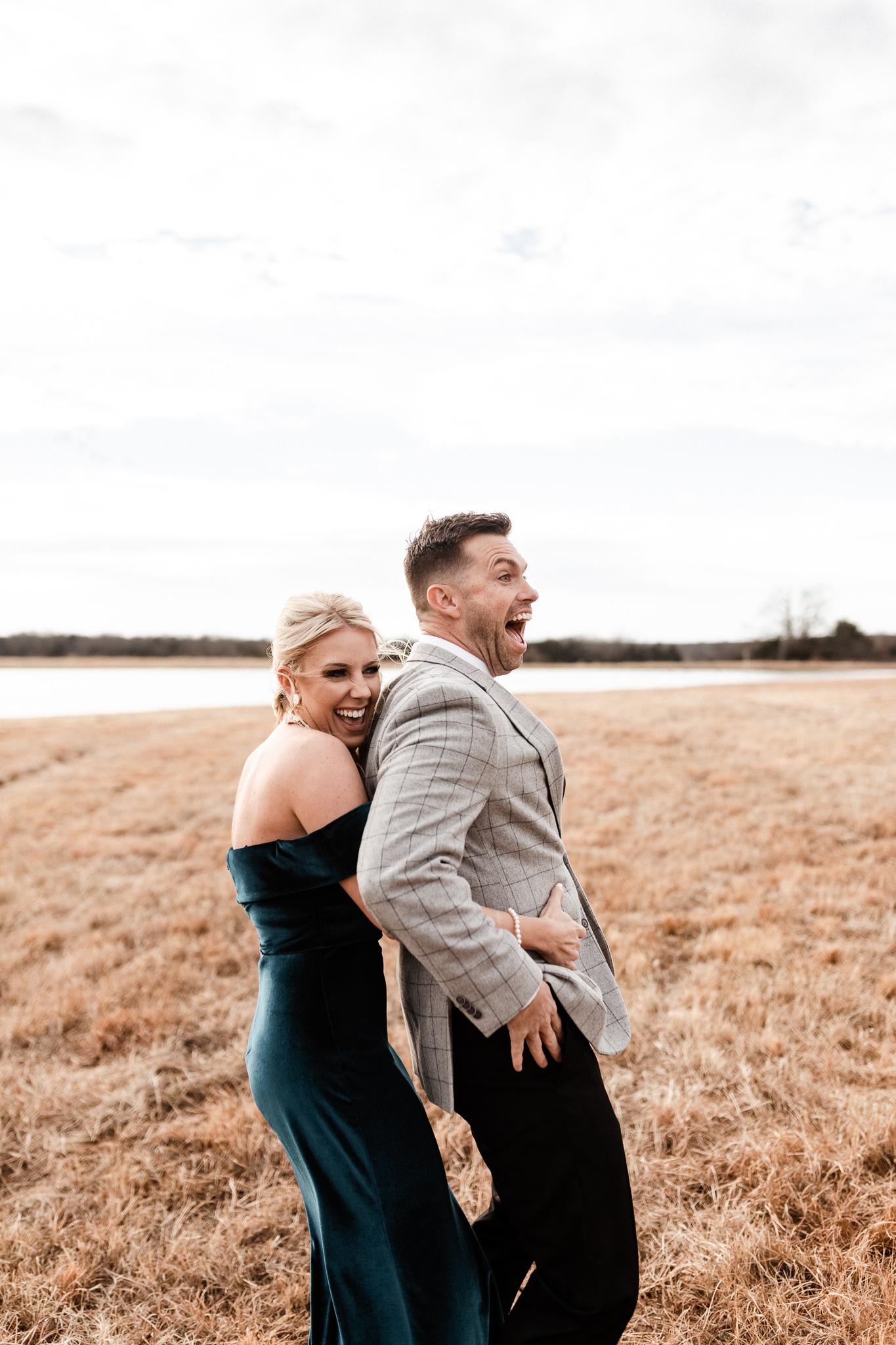 Wade + Stephanie | Warm Open Field Engagements | Oklahoma Wedding Photographer-24.jpg