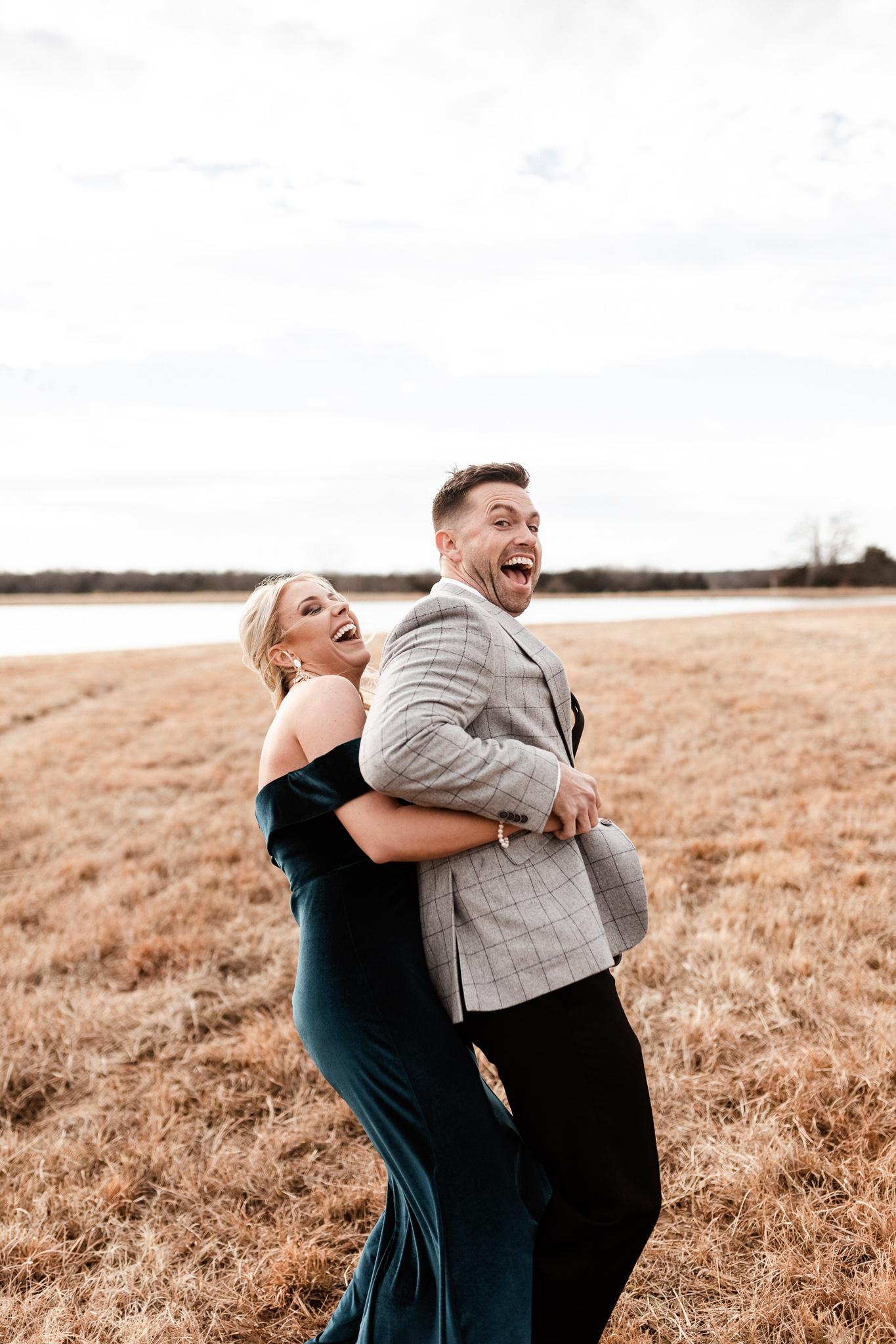 Wade + Stephanie | Warm Open Field Engagements | Oklahoma Wedding Photographer-25.jpg