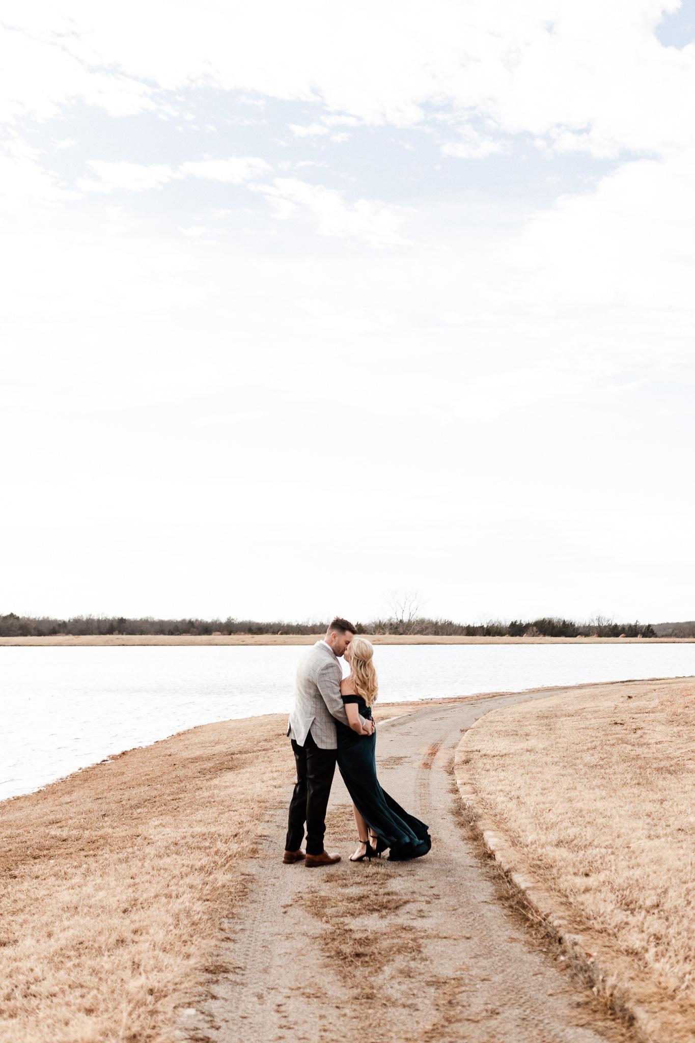 Wade + Stephanie | Warm Open Field Engagements | Oklahoma Wedding Photographer-32.jpg