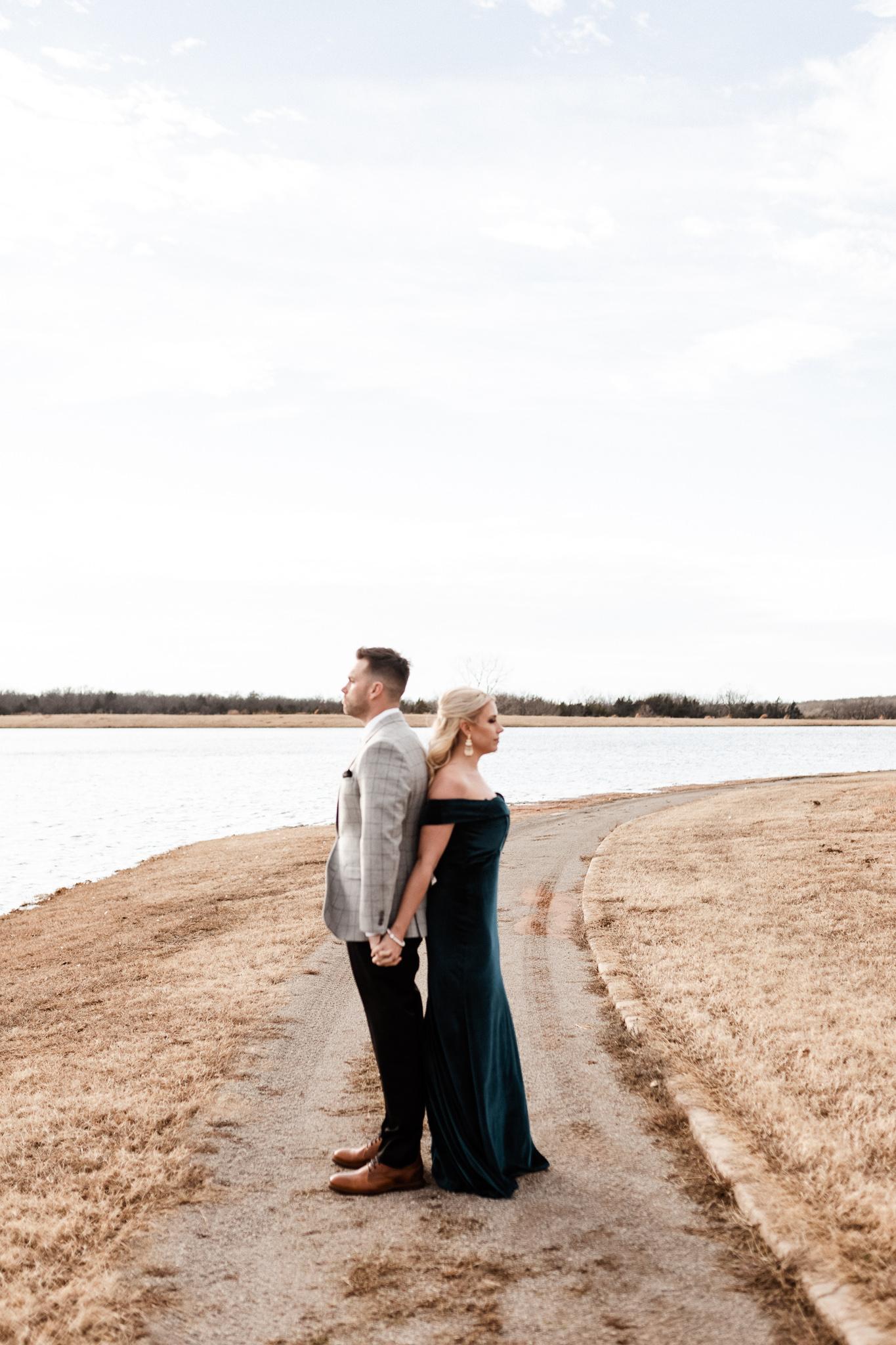Wade + Stephanie | Warm Open Field Engagements | Oklahoma Wedding Photographer-34.jpg