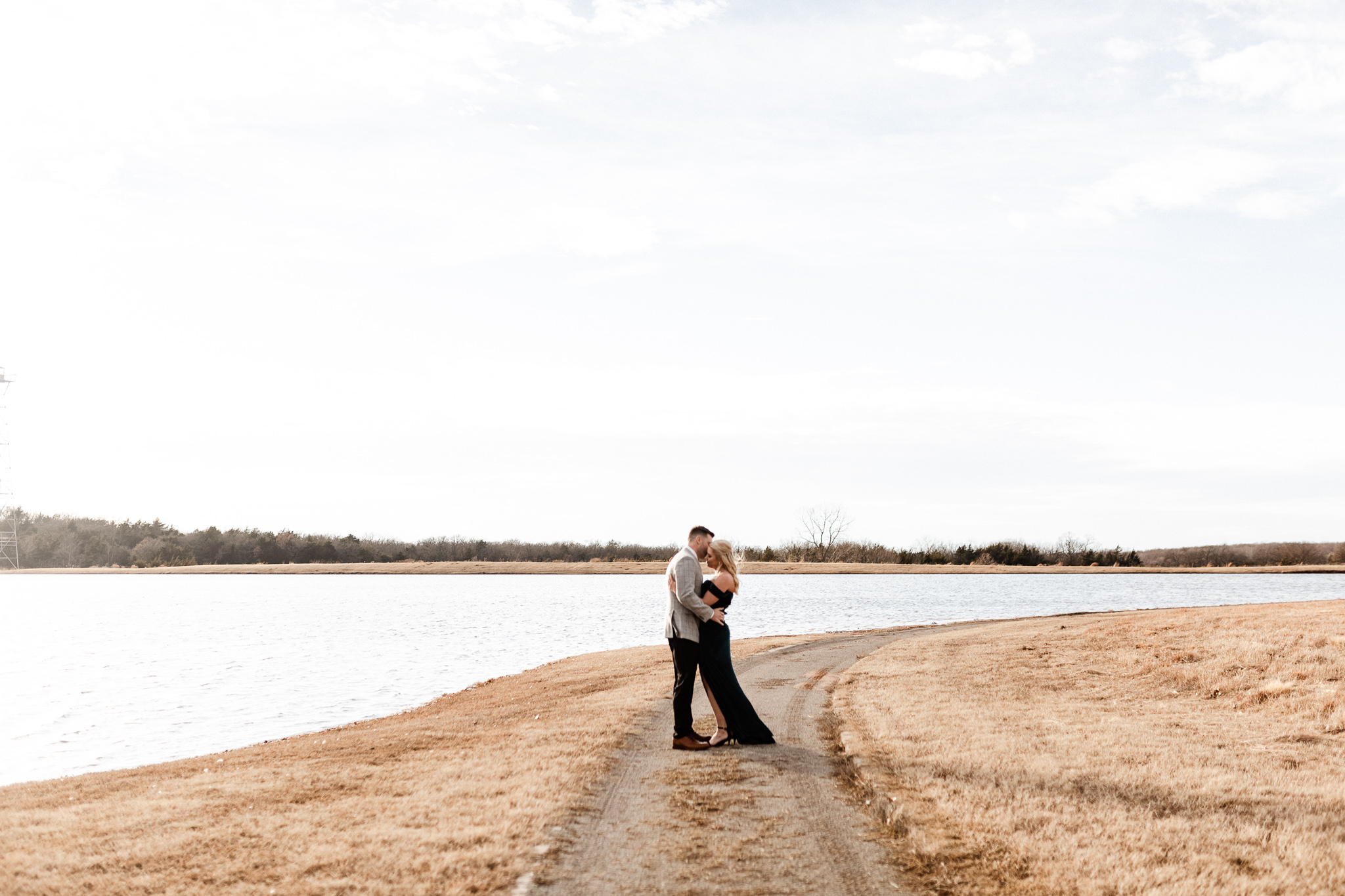 Wade + Stephanie | Warm Open Field Engagements | Oklahoma Wedding Photographer-35.jpg