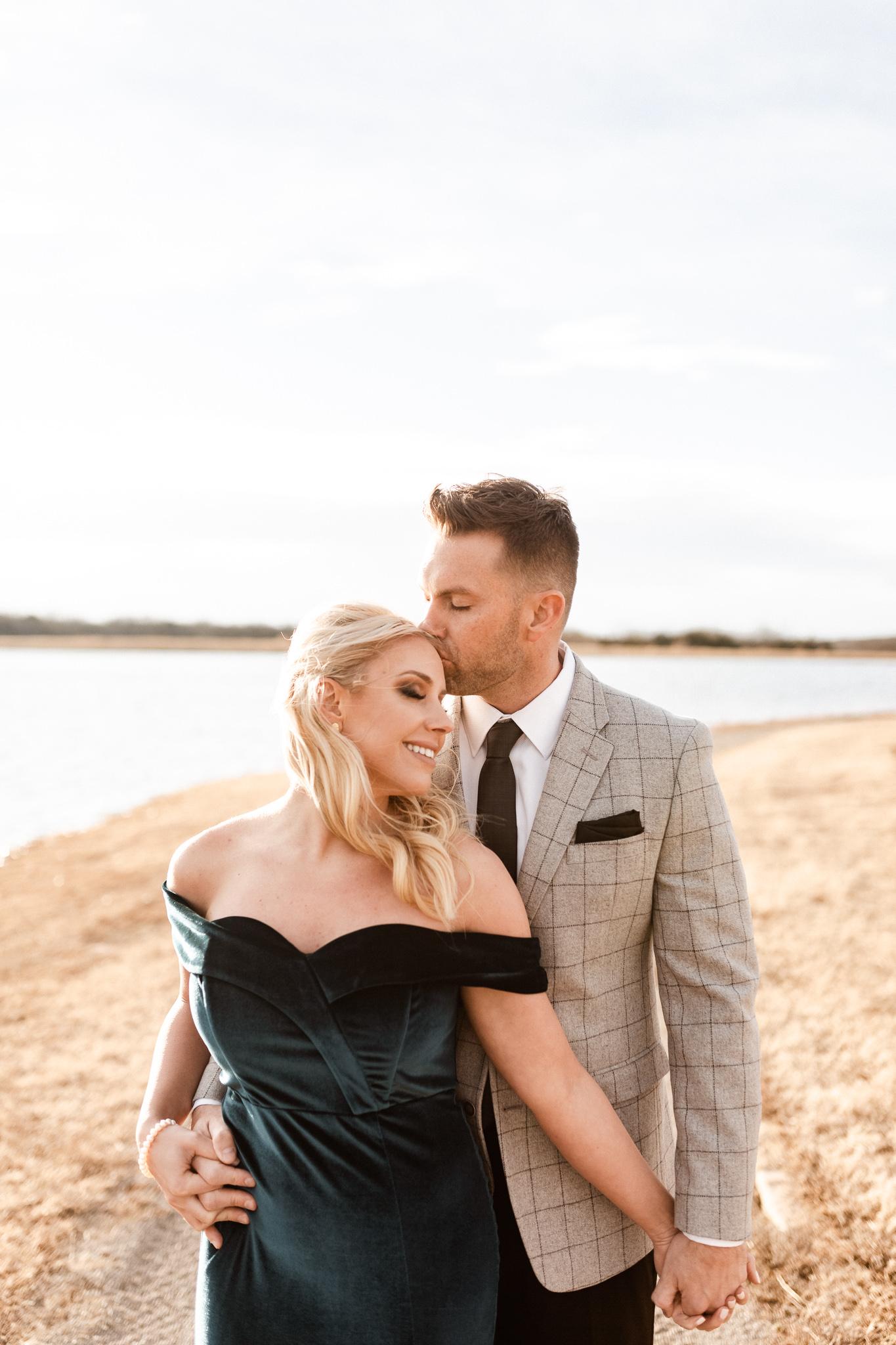 Wade + Stephanie | Warm Open Field Engagements | Oklahoma Wedding Photographer-37.jpg