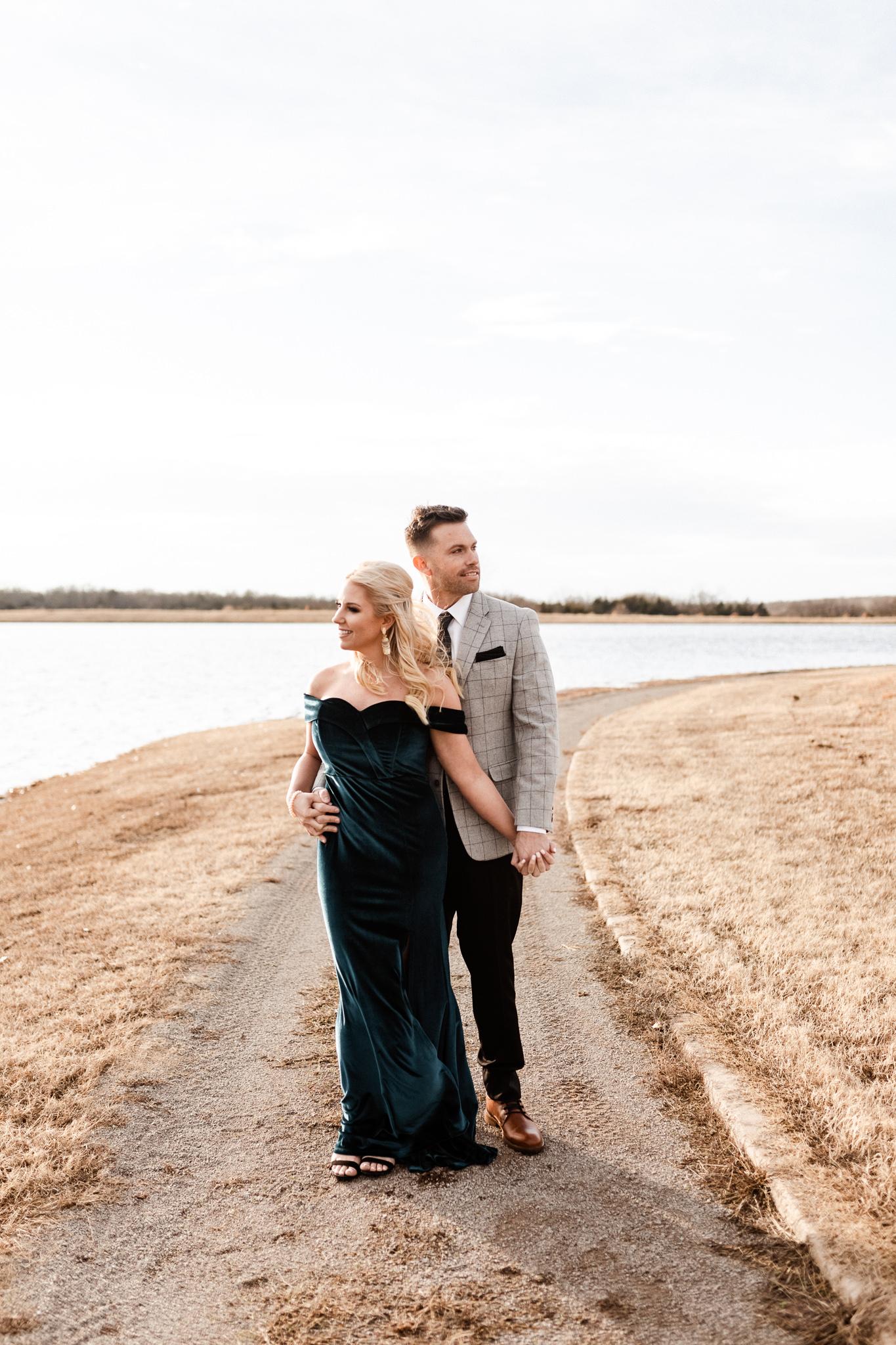 Wade + Stephanie | Warm Open Field Engagements | Oklahoma Wedding Photographer-36.jpg
