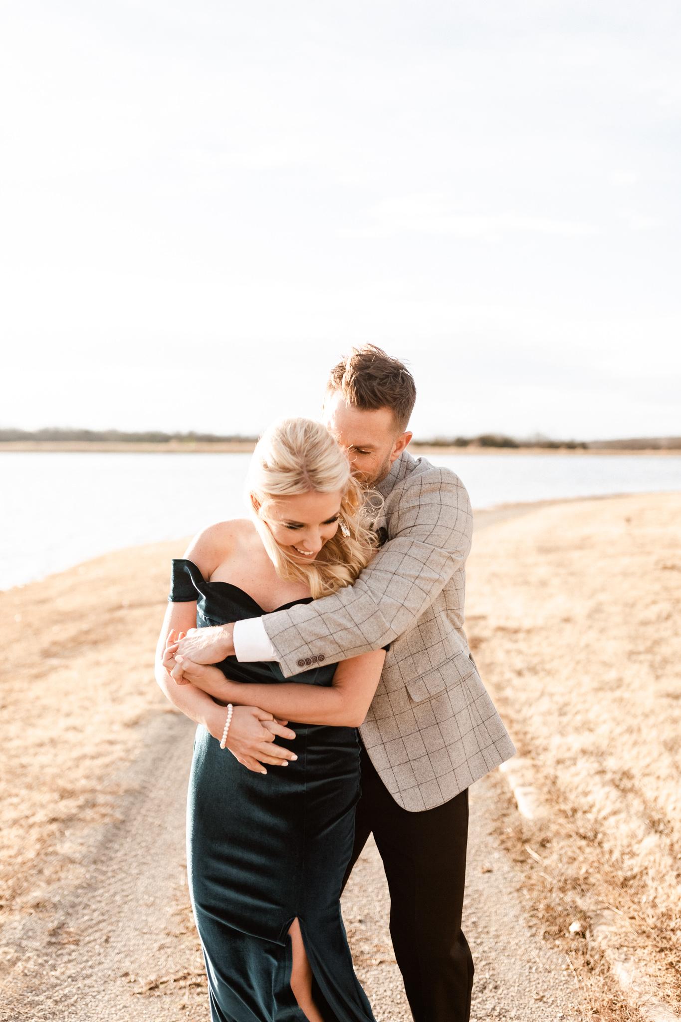 Wade + Stephanie | Warm Open Field Engagements | Oklahoma Wedding Photographer-38.jpg