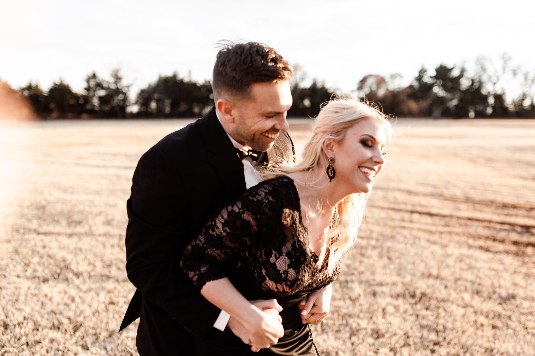 Wade + Stephanie | Warm Open Field Engagements | Oklahoma Wedding Photographer-42.jpg