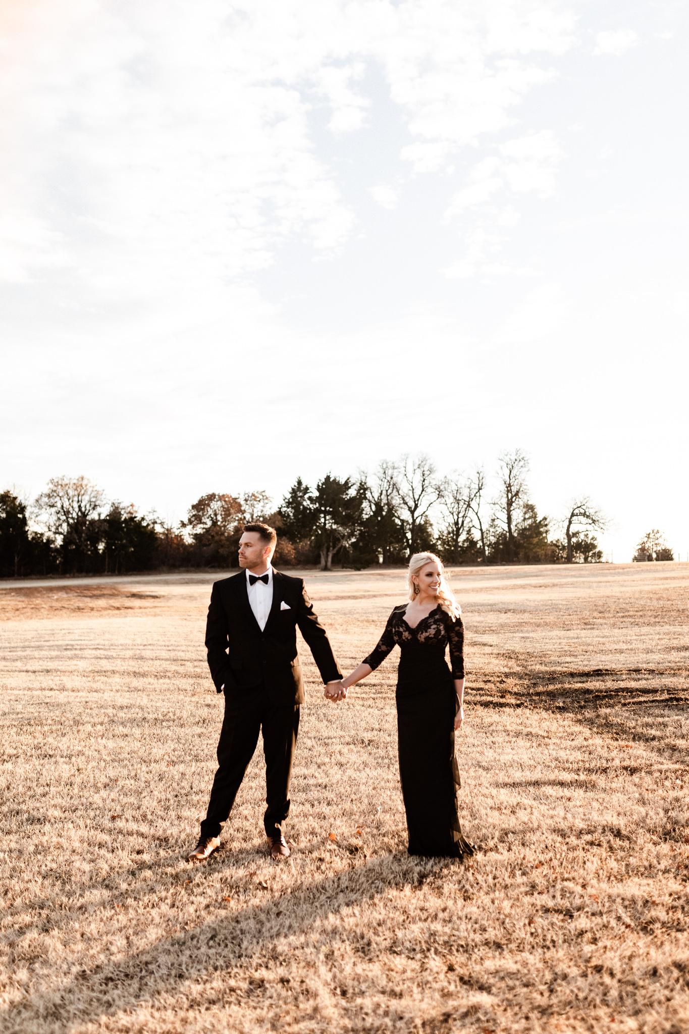 Wade + Stephanie | Warm Open Field Engagements | Oklahoma Wedding Photographer-45.jpg