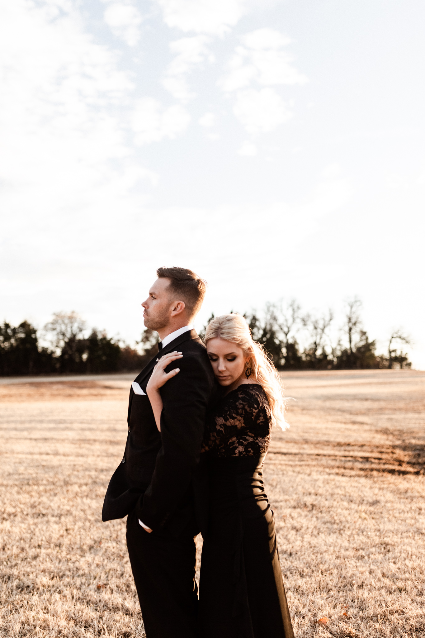 Wade + Stephanie | Warm Open Field Engagements | Oklahoma Wedding Photographer-47.jpg