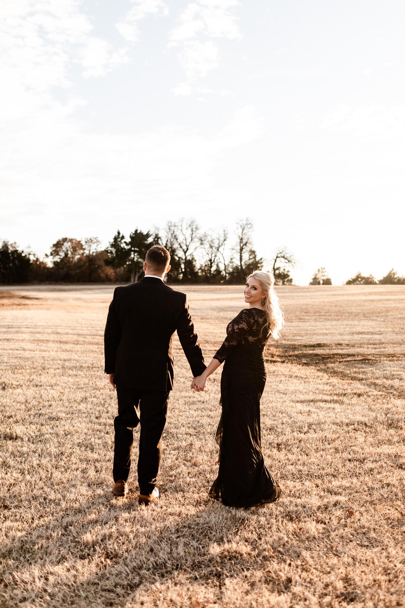 Wade + Stephanie | Warm Open Field Engagements | Oklahoma Wedding Photographer-46.jpg