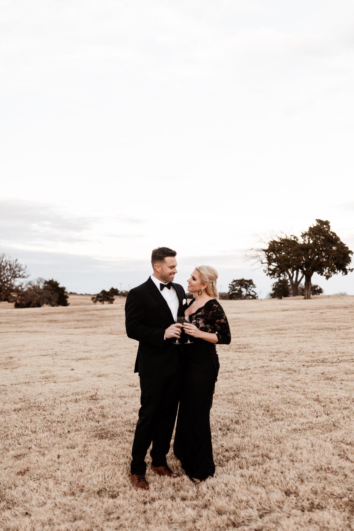 Wade + Stephanie | Warm Open Field Engagements | Oklahoma Wedding Photographer-52.jpg
