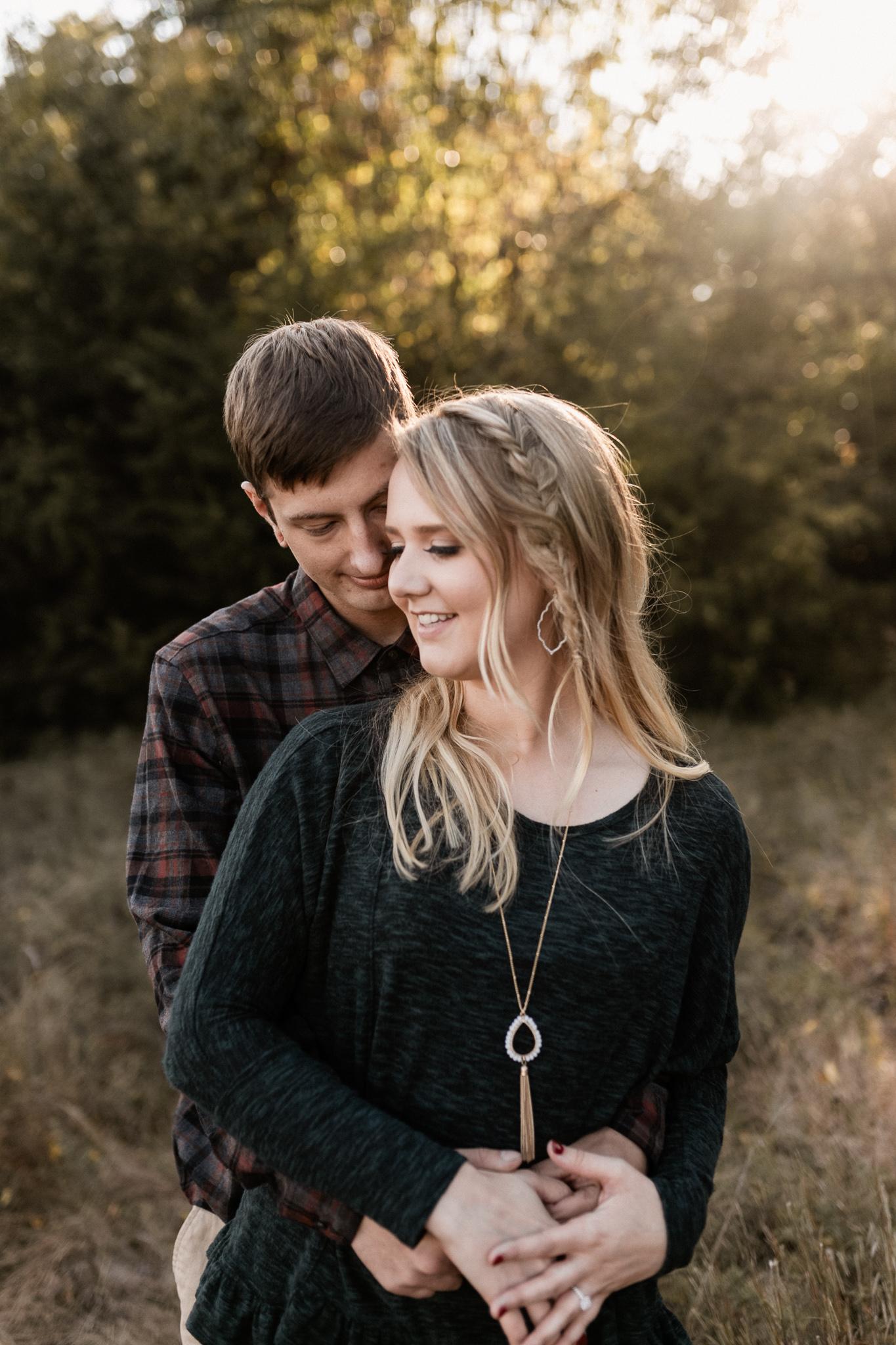 Kyle + Brittany | Fall Lake Engagement Photos | Oklahoma Lifestyle Photographer-3.jpg
