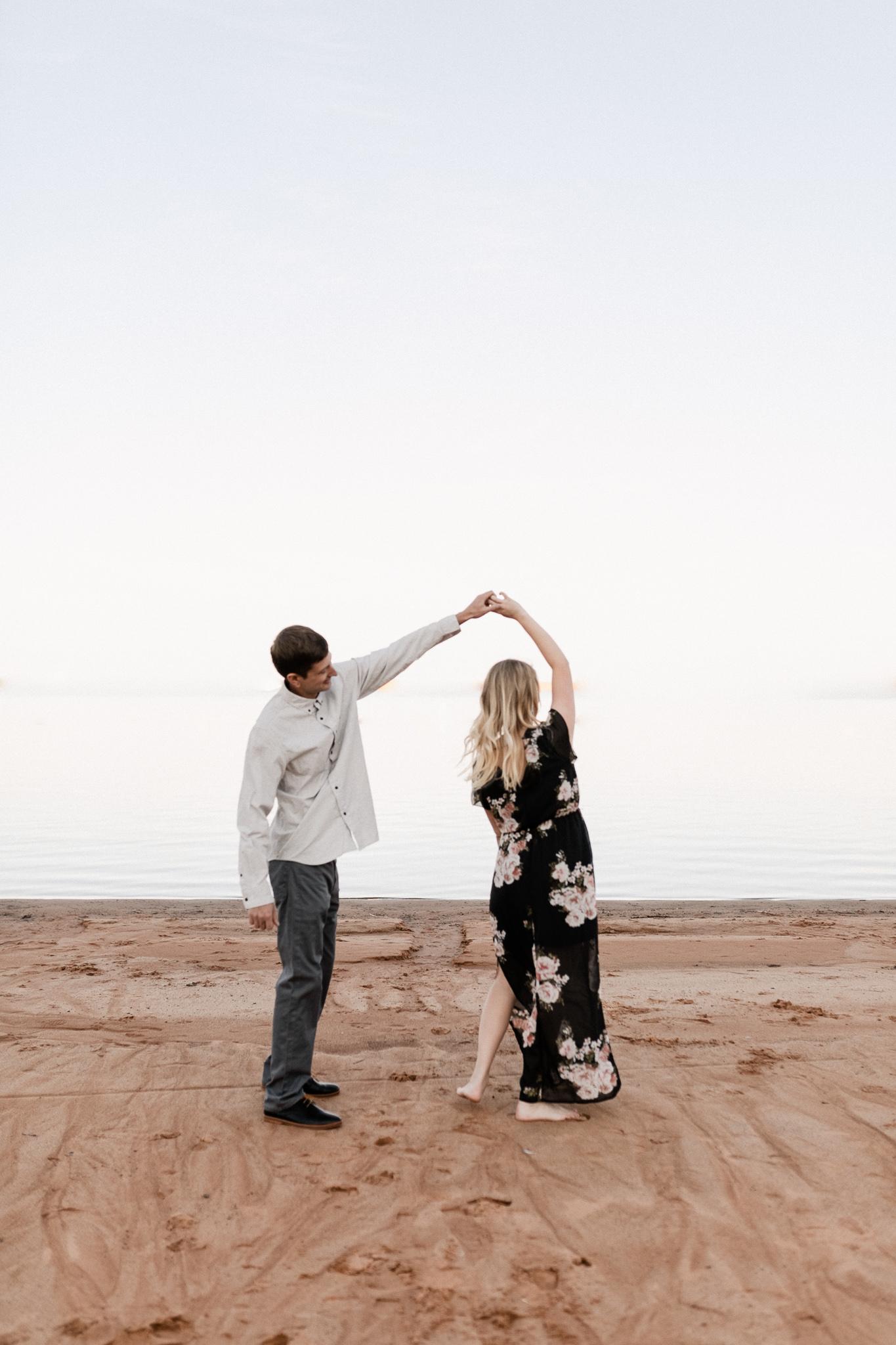 Kyle + Brittany | Fall Lake Engagement Photos | Oklahoma Lifestyle Photographer-10.jpg