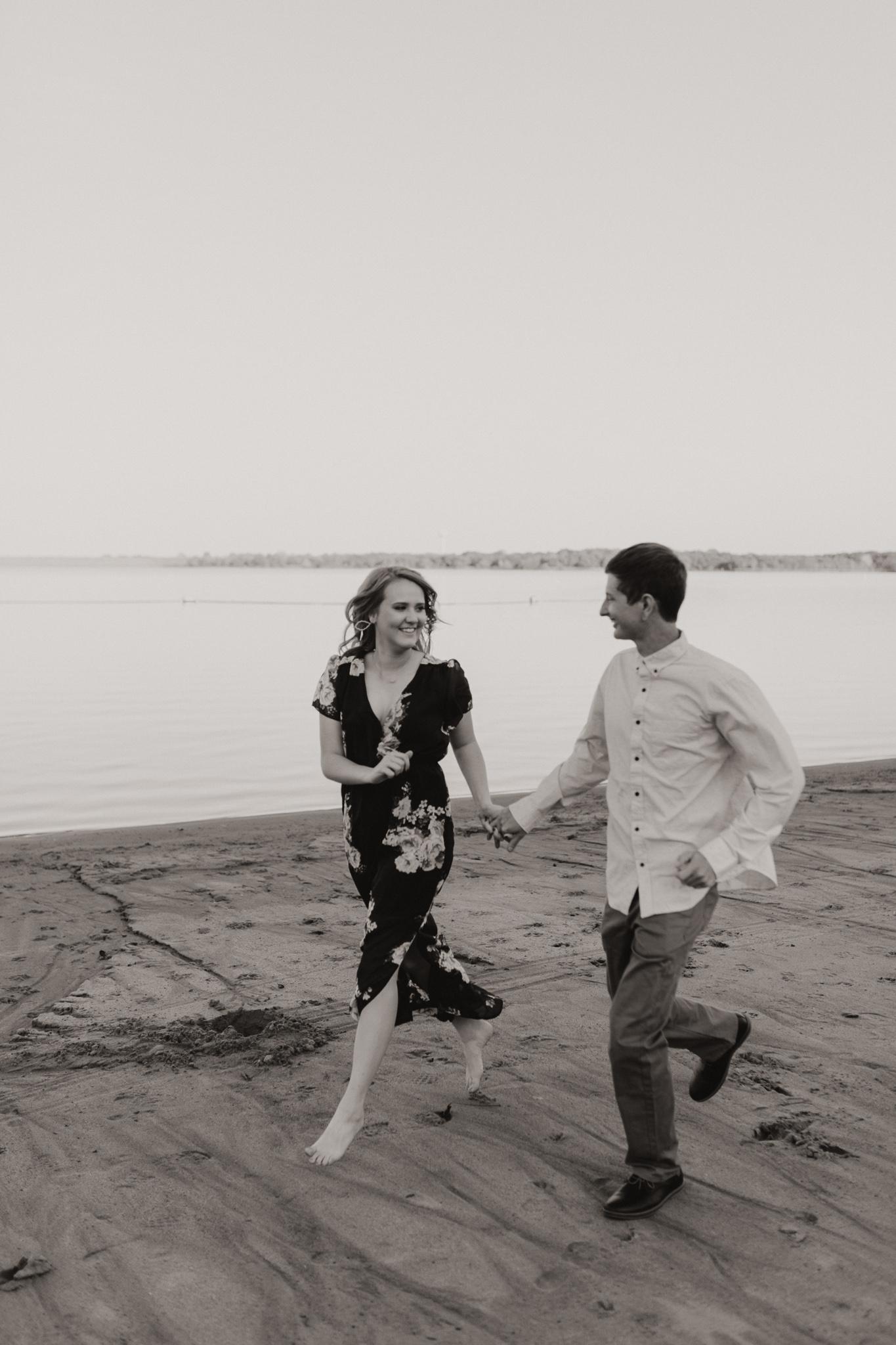 Kyle + Brittany | Fall Lake Engagement Photos | Oklahoma Lifestyle Photographer-12.jpg