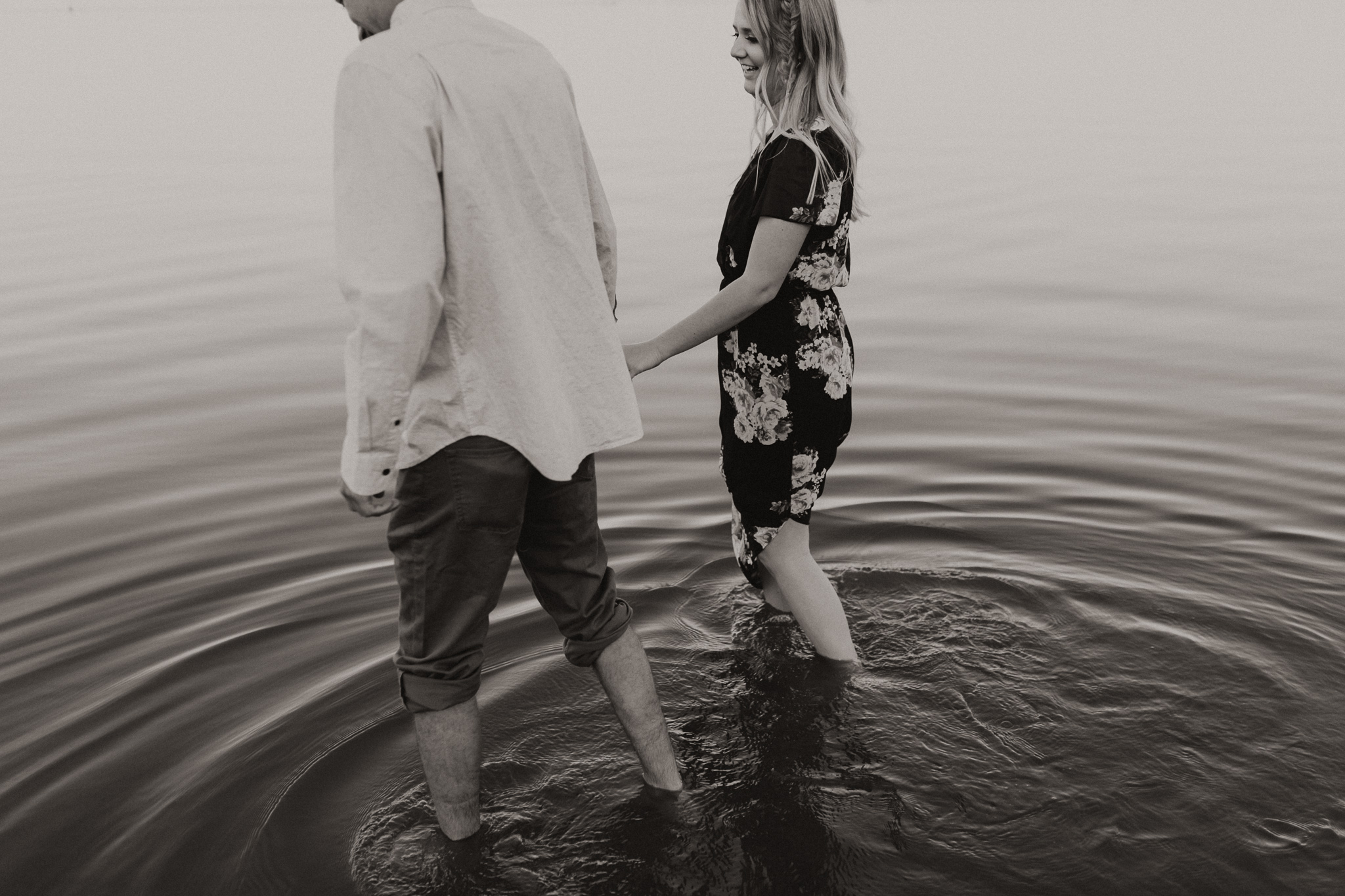 Kyle + Brittany | Fall Lake Engagement Photos | Oklahoma Lifestyle Photographer-16.jpg