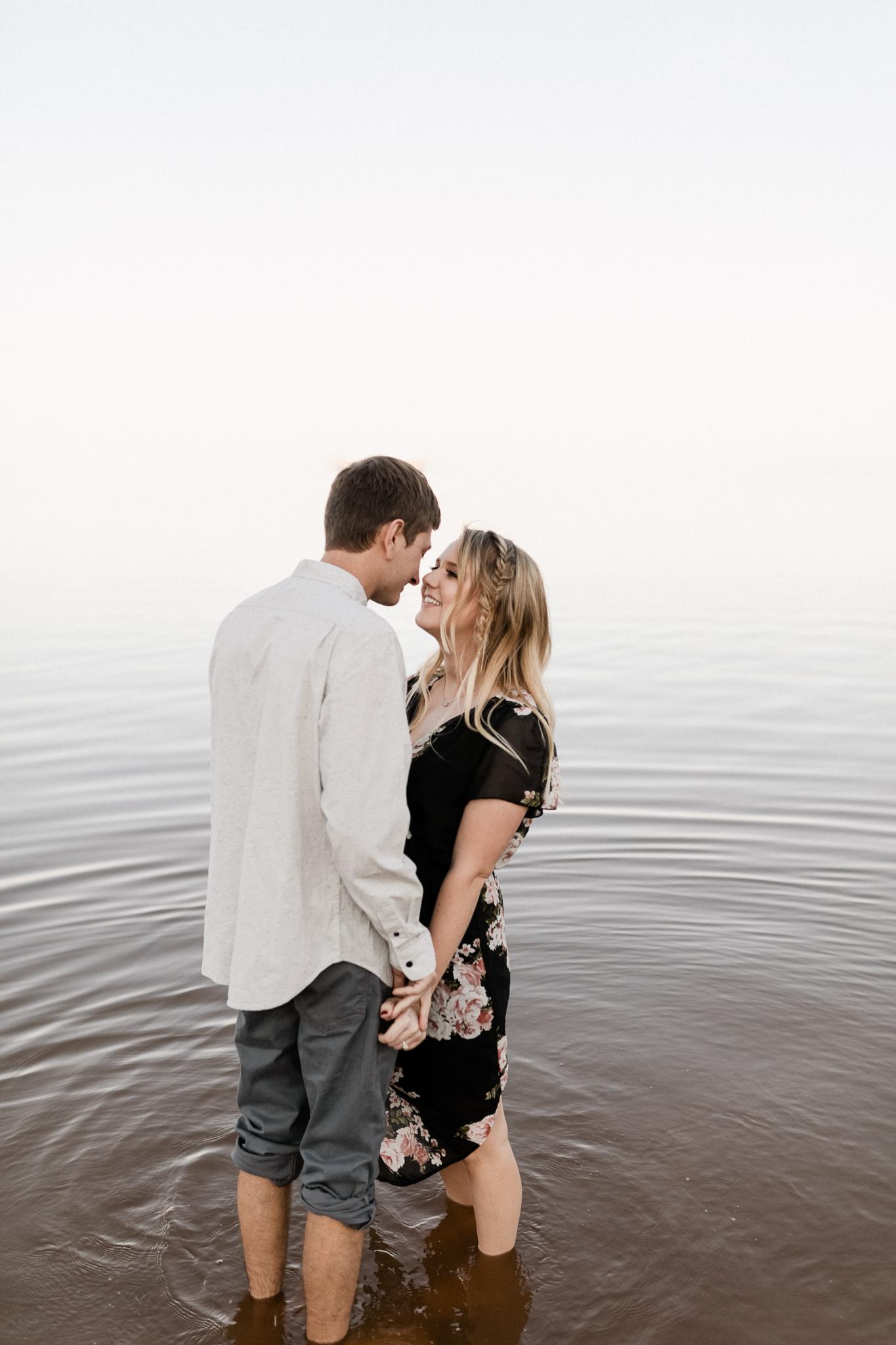 Kyle + Brittany | Fall Lake Engagement Photos | Oklahoma Lifestyle Photographer-17.jpg