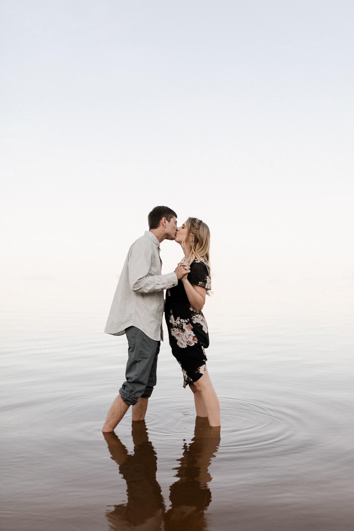 Kyle + Brittany | Fall Lake Engagement Photos | Oklahoma Lifestyle Photographer-21.jpg