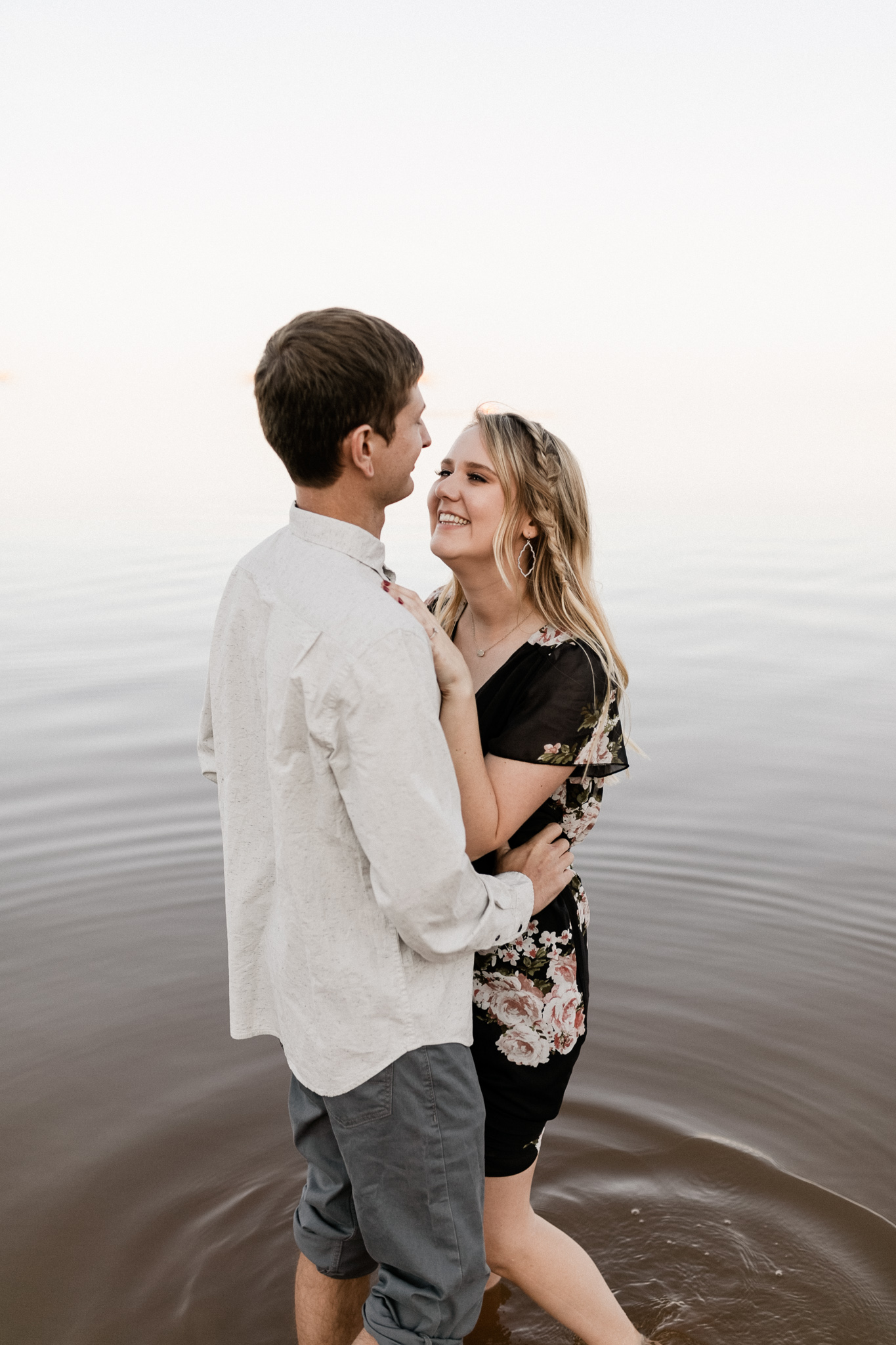 Kyle + Brittany   Fall Lake Engagement Photos   Oklahoma Lifestyle Photographer-24.jpg