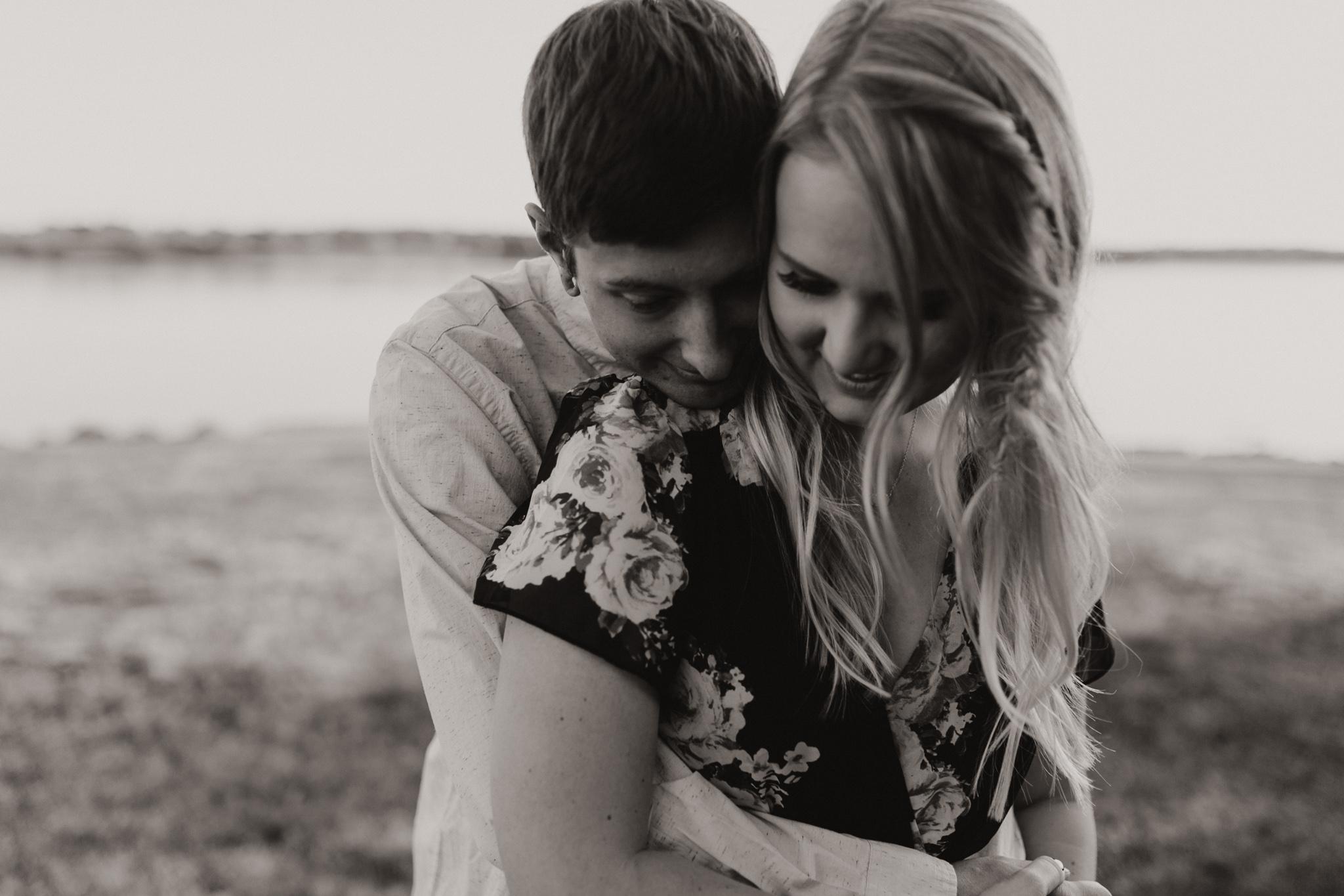 Kyle + Brittany | Fall Lake Engagement Photos | Oklahoma Lifestyle Photographer-29.jpg