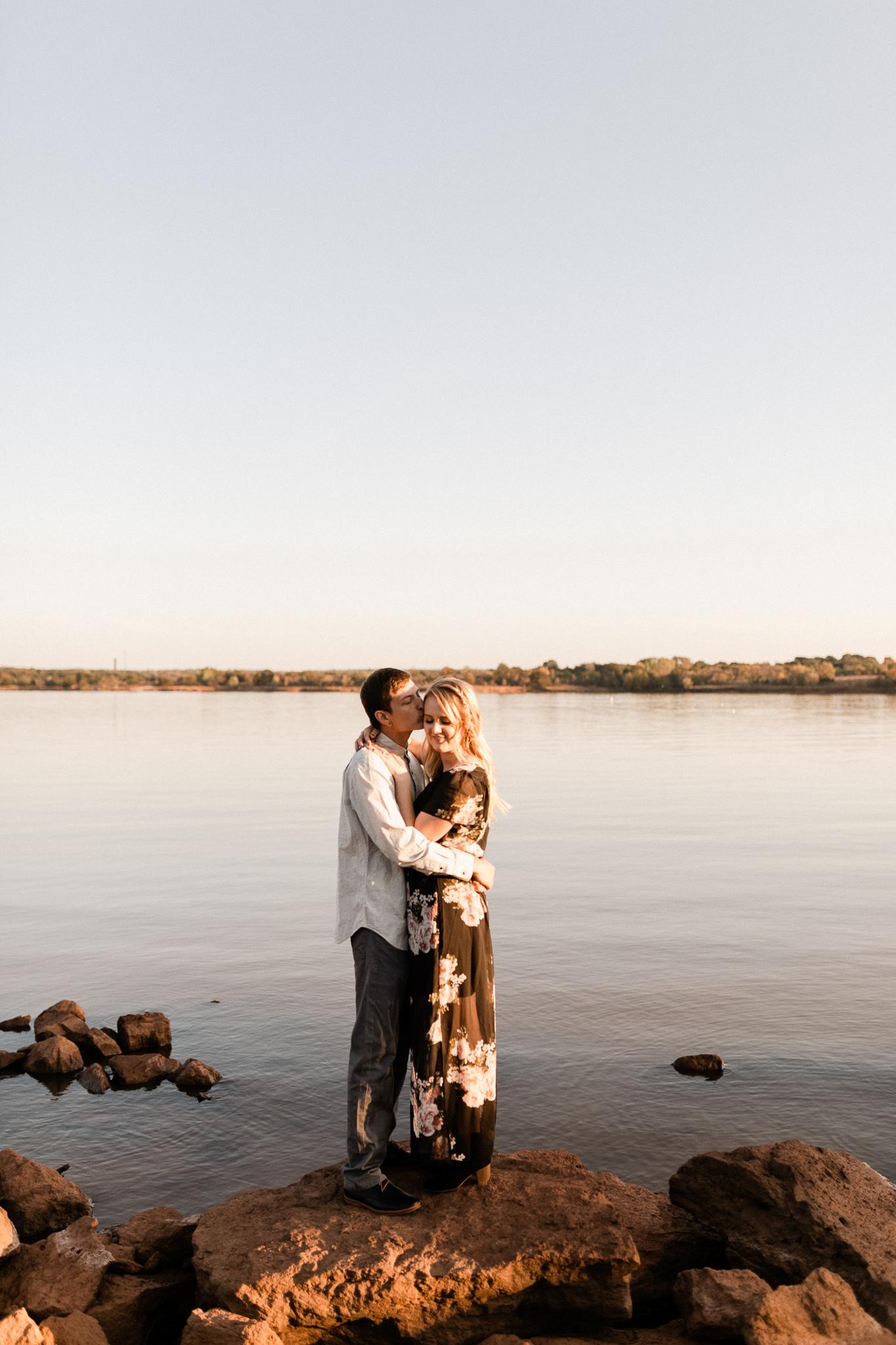 Kyle + Brittany   Fall Lake Engagement Photos   Oklahoma Lifestyle Photographer-31.jpg