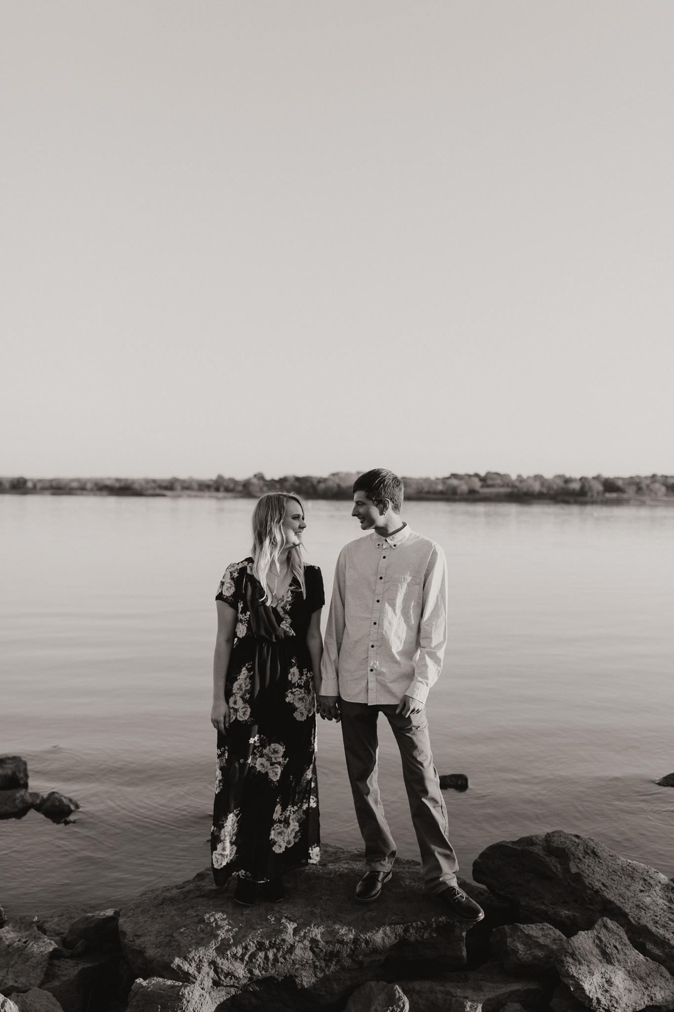 Kyle + Brittany | Fall Lake Engagement Photos | Oklahoma Lifestyle Photographer-33.jpg