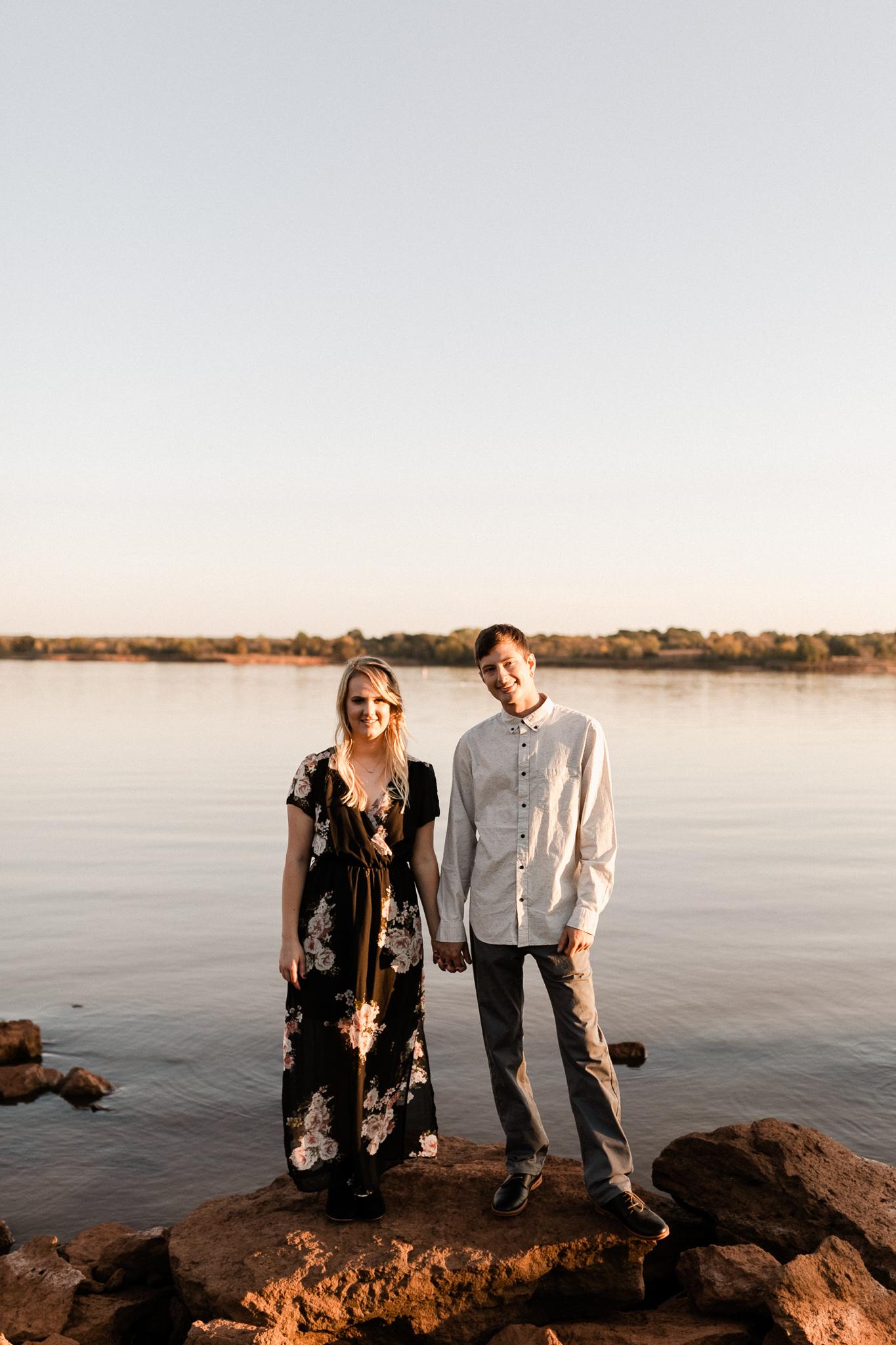 Kyle + Brittany | Fall Lake Engagement Photos | Oklahoma Lifestyle Photographer-32.jpg