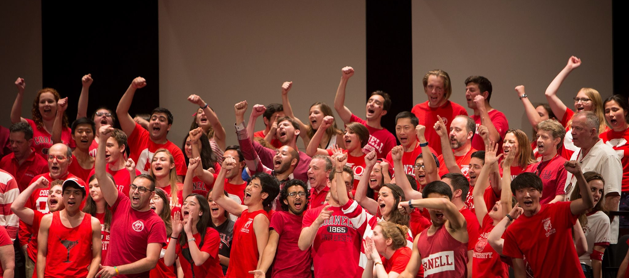 Bailey Hall, July 2017.  Glee Club and Chorus (with alumni)