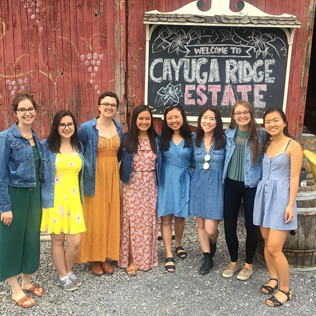 Summer is in full swing, which means most of us are busy with work, internships, vacations, and as usual, academics😐 so let's throw it back to wine tour when our seniors were still at Cornell 😭and our only obligation was to choose between a Merlot and a Riesling 🍷  #choruslove #summer