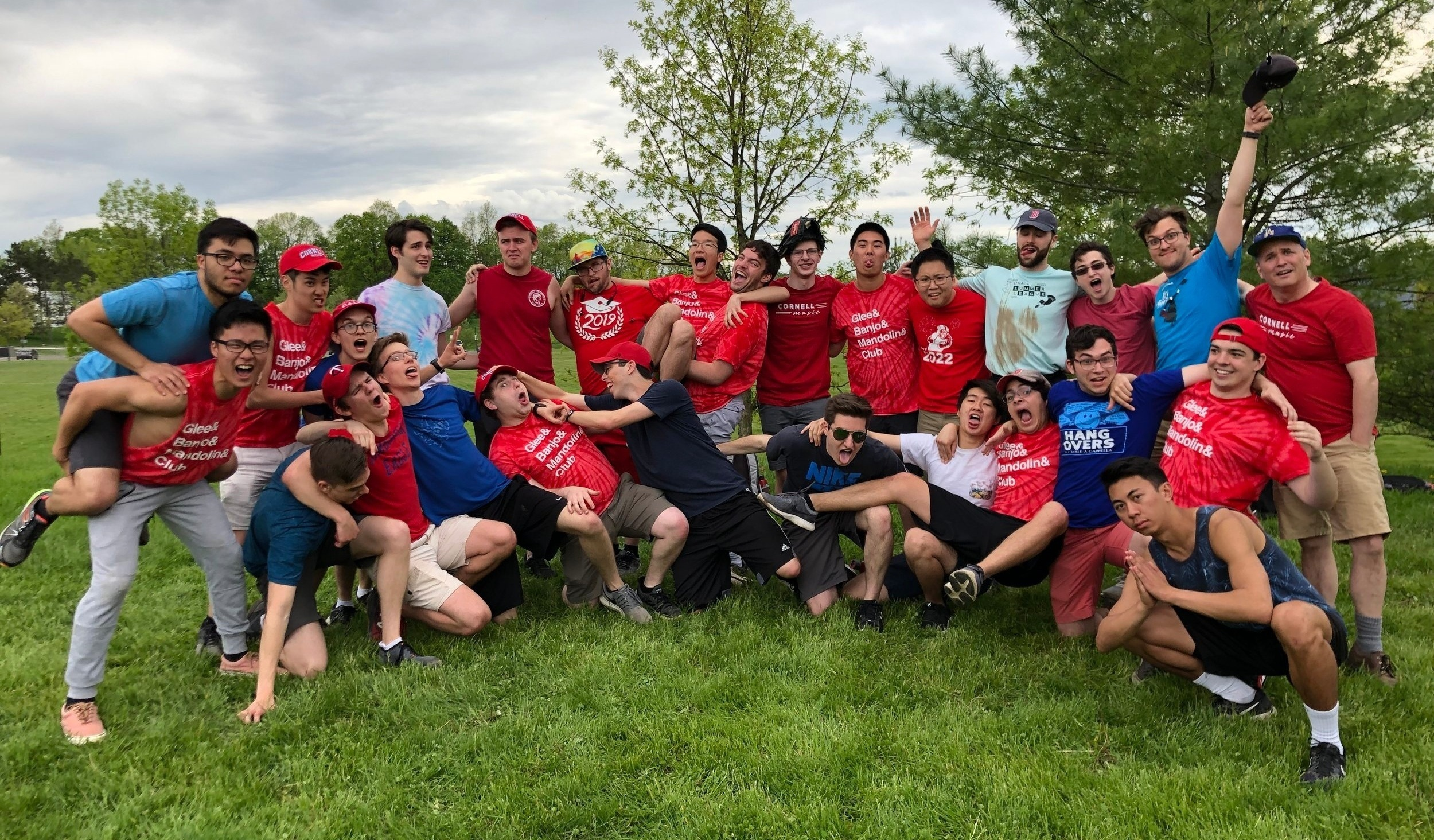 Tenor vs. Bass Softball, May 2019.  Glee Club