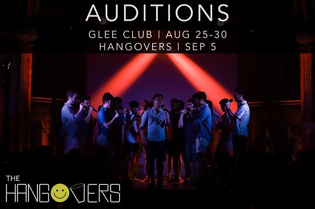 Glee Club auditions are officially underway! If you get accepted into the Glee Club, you will have the chance to audition for Cornell's oldest a cappella group next week! You can find more information at the websites below:  www.singatcornell.com www.gleeclub.com www.hangovers.com