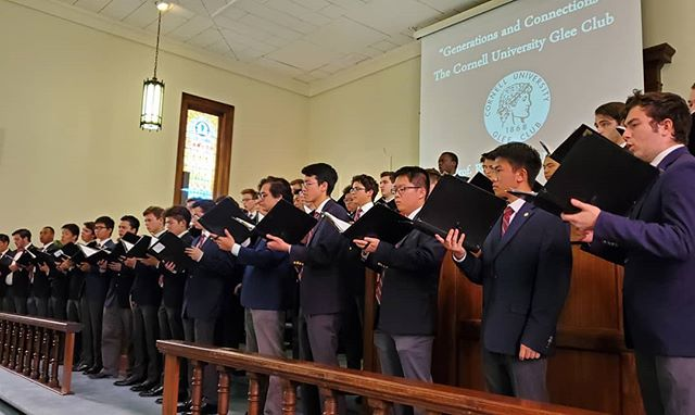 The Glee Club performing in Skaneateles as part of our annual retreat. It was a wonderful weekend full of hard work and bonding in preparation for the big year ahead.