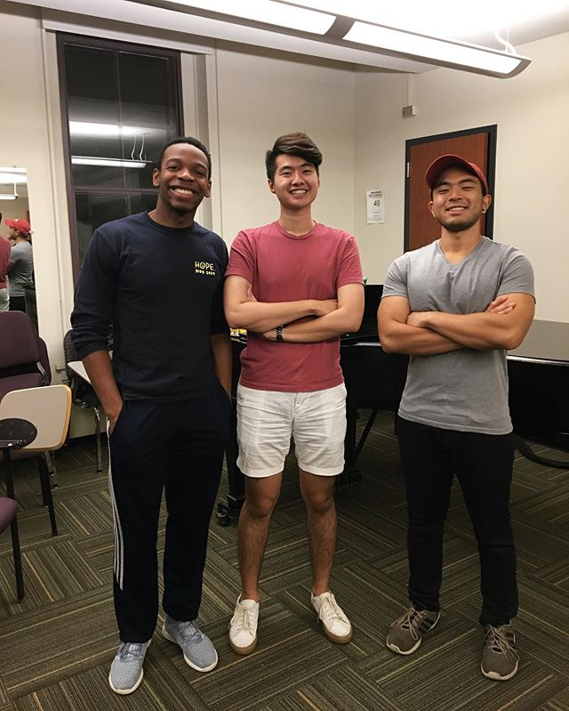 After a very competitive audition process, we're excited to introduce three talented new members! (From left to right)  Josh Ward '21 Kenneth Li '21 James Ozaki GRAD  We're so happy to welcome you to the Hangs, and we can't wait for a semester full of new music and memories.