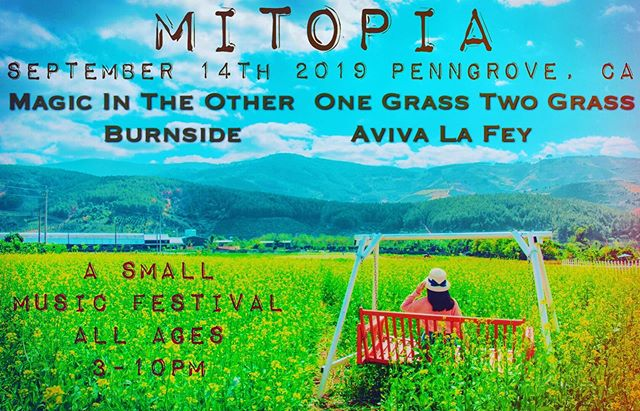As festival season is upon us we are delighted to share we are hosting our first festival, MITOPIA on 9/14 in Sonoma County, CA along with friends @onegrasstwograss @burnsidetheband and @avivalefey  This will sell out in advance. ticket link and more info in profile. So excited!